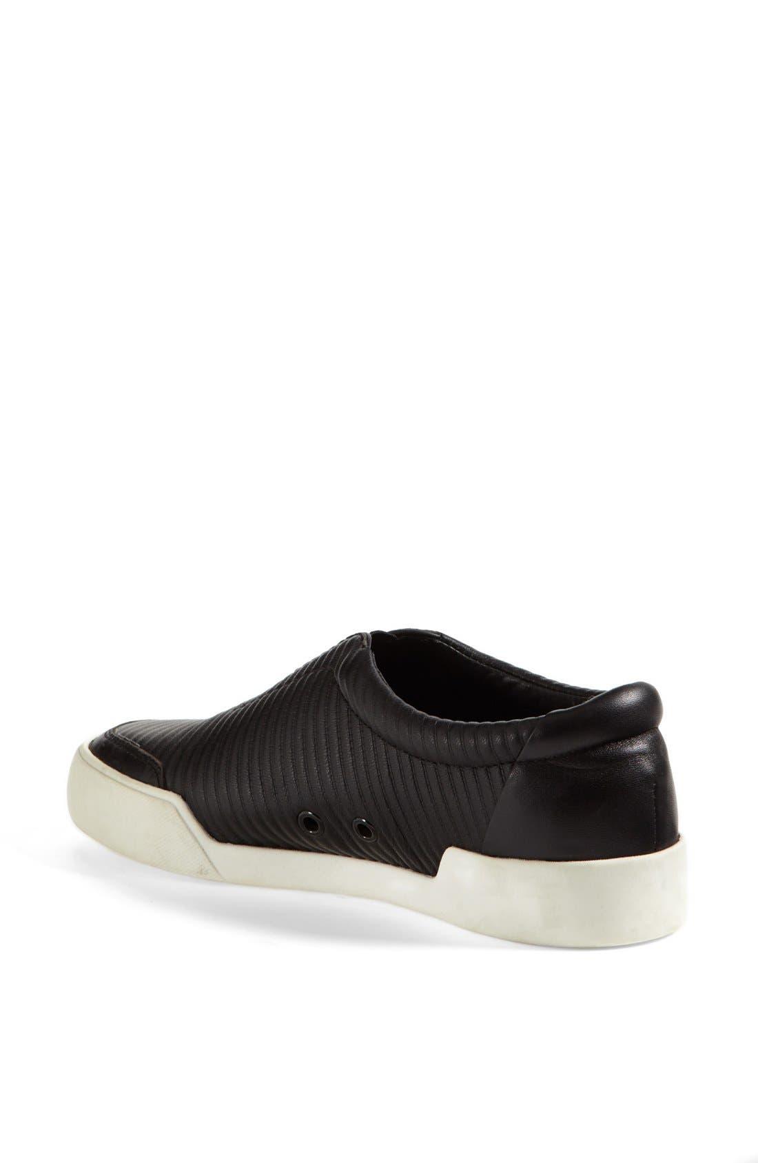 'Morgan' Slip-On Sneaker,                             Alternate thumbnail 2, color,                             Black