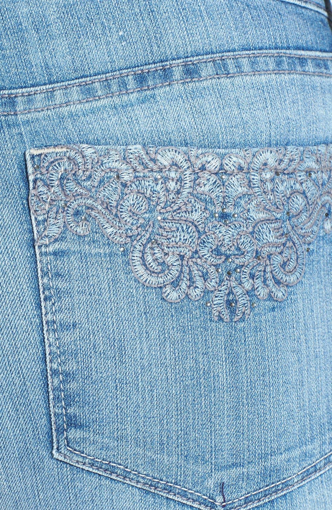 Alternate Image 3  - NYDJ 'Sheri' Stretch Skinny Jeans (Palos Verdes) (Regular & Petite)