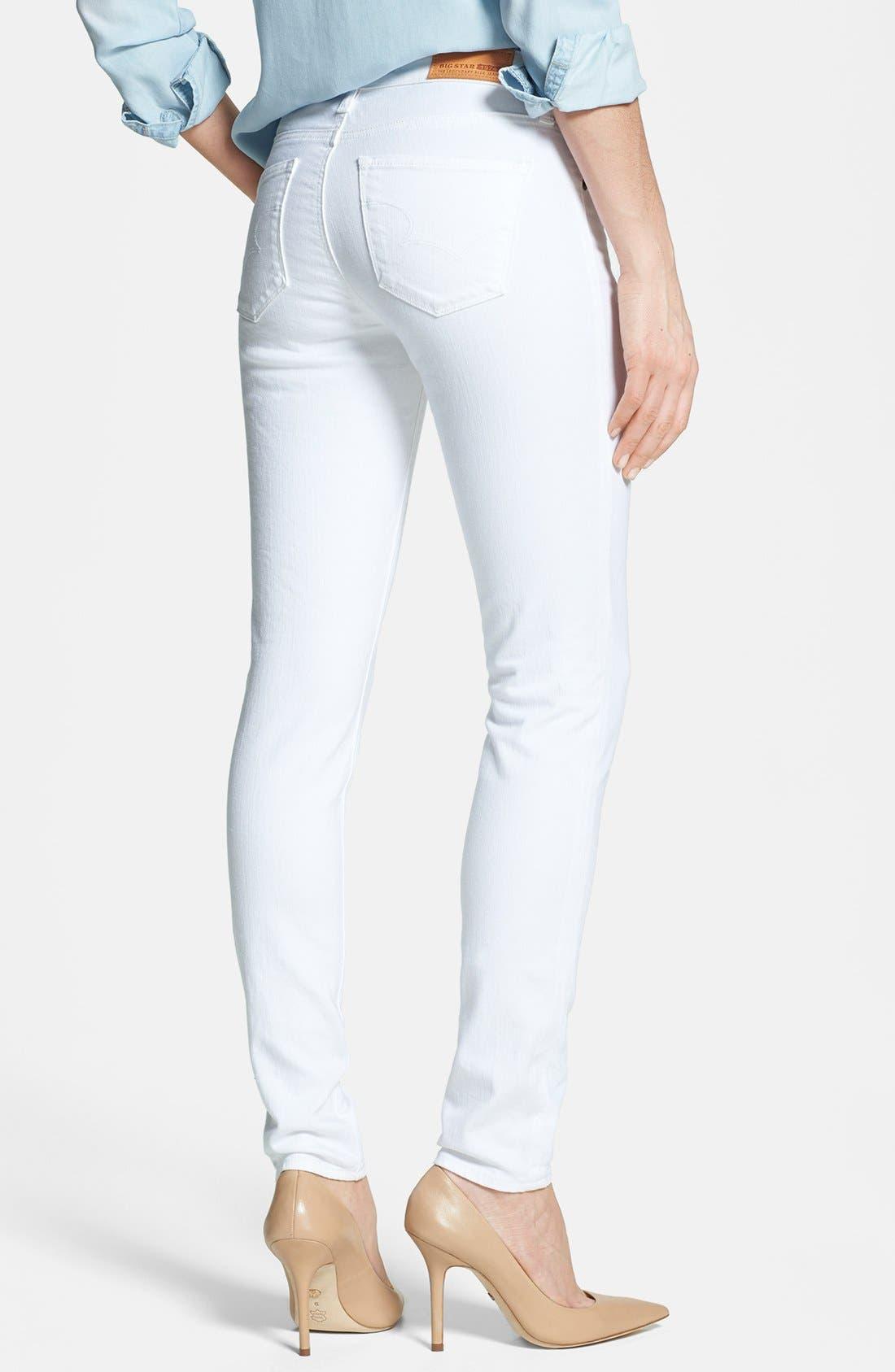 Alternate Image 2  - Big Star 'Alex' Stretch Skinny Jeans (White)