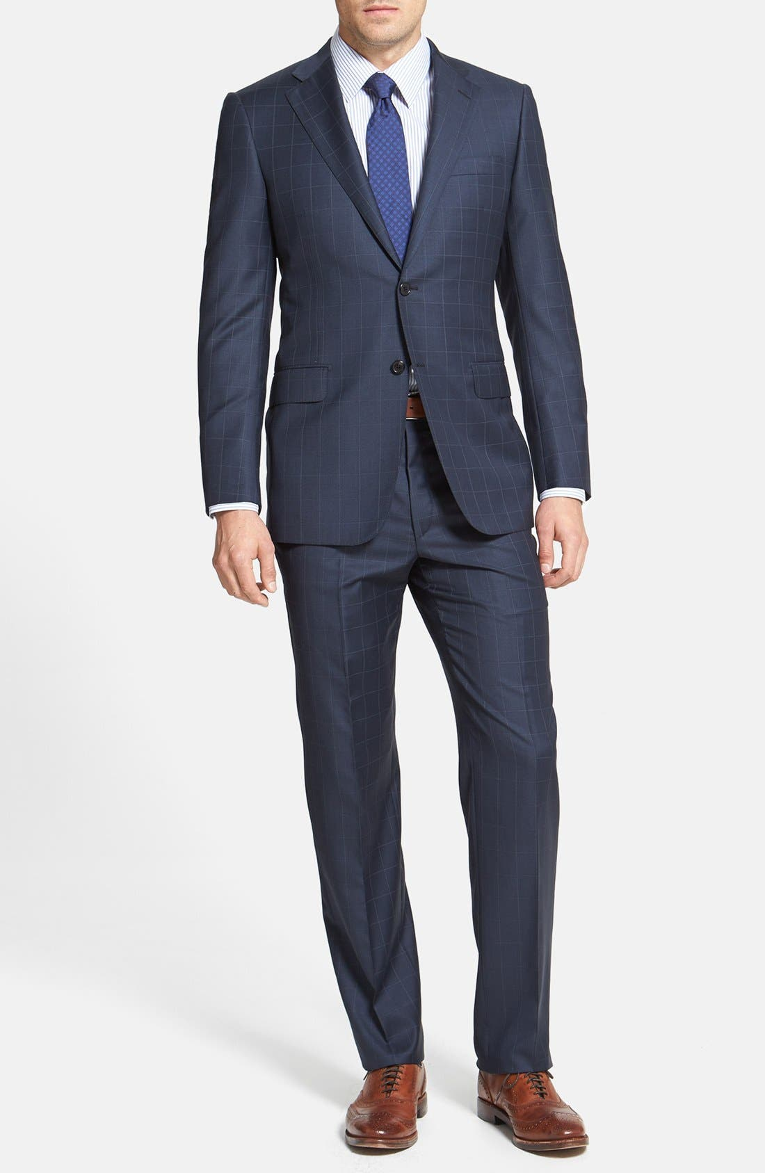Alternate Image 1 Selected - BEACON WINDOWPANE 2BTN SUIT