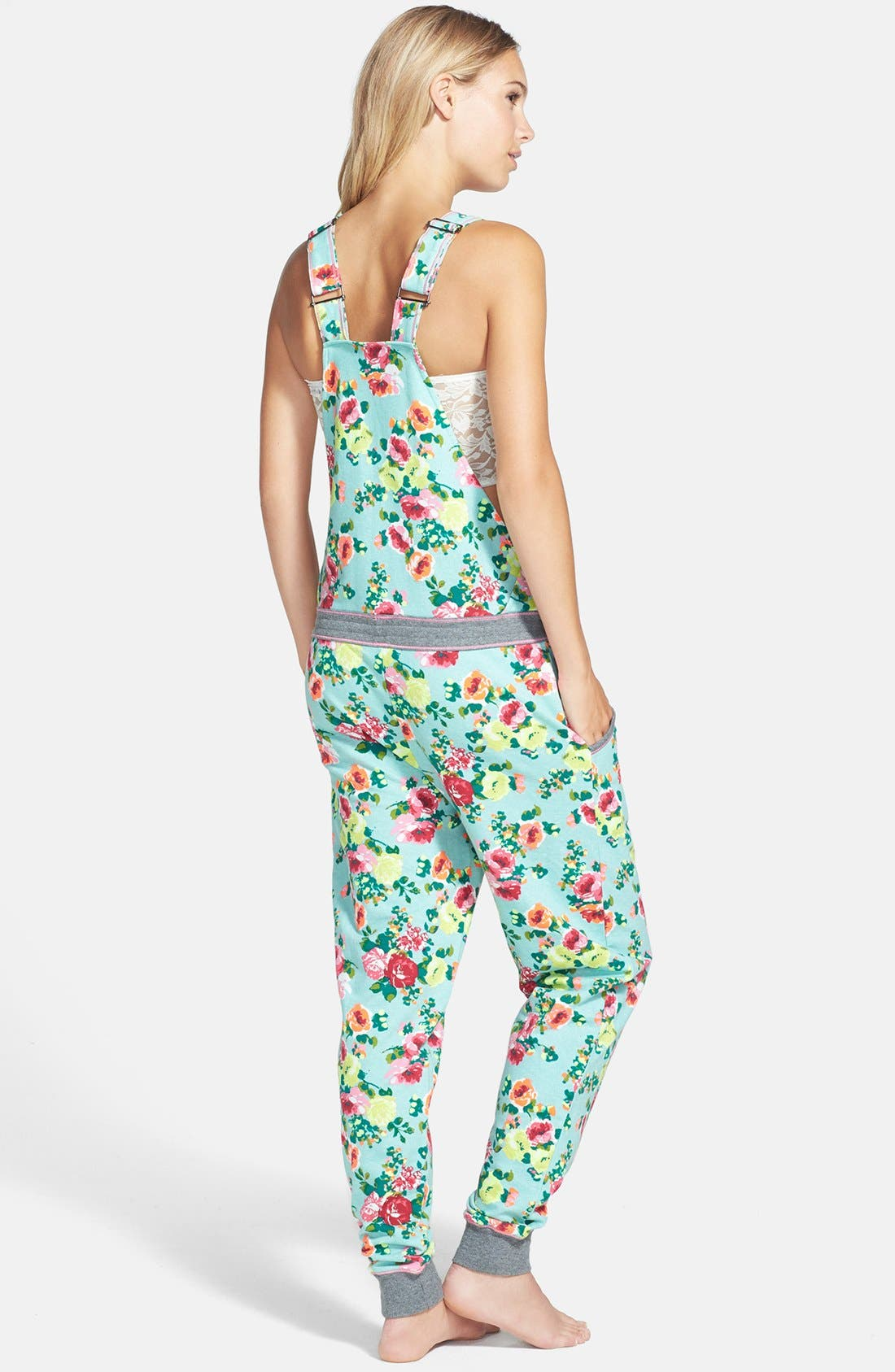 Alternate Image 2  - kensie 'Rosy Outlook' French Terry Jumpsuit