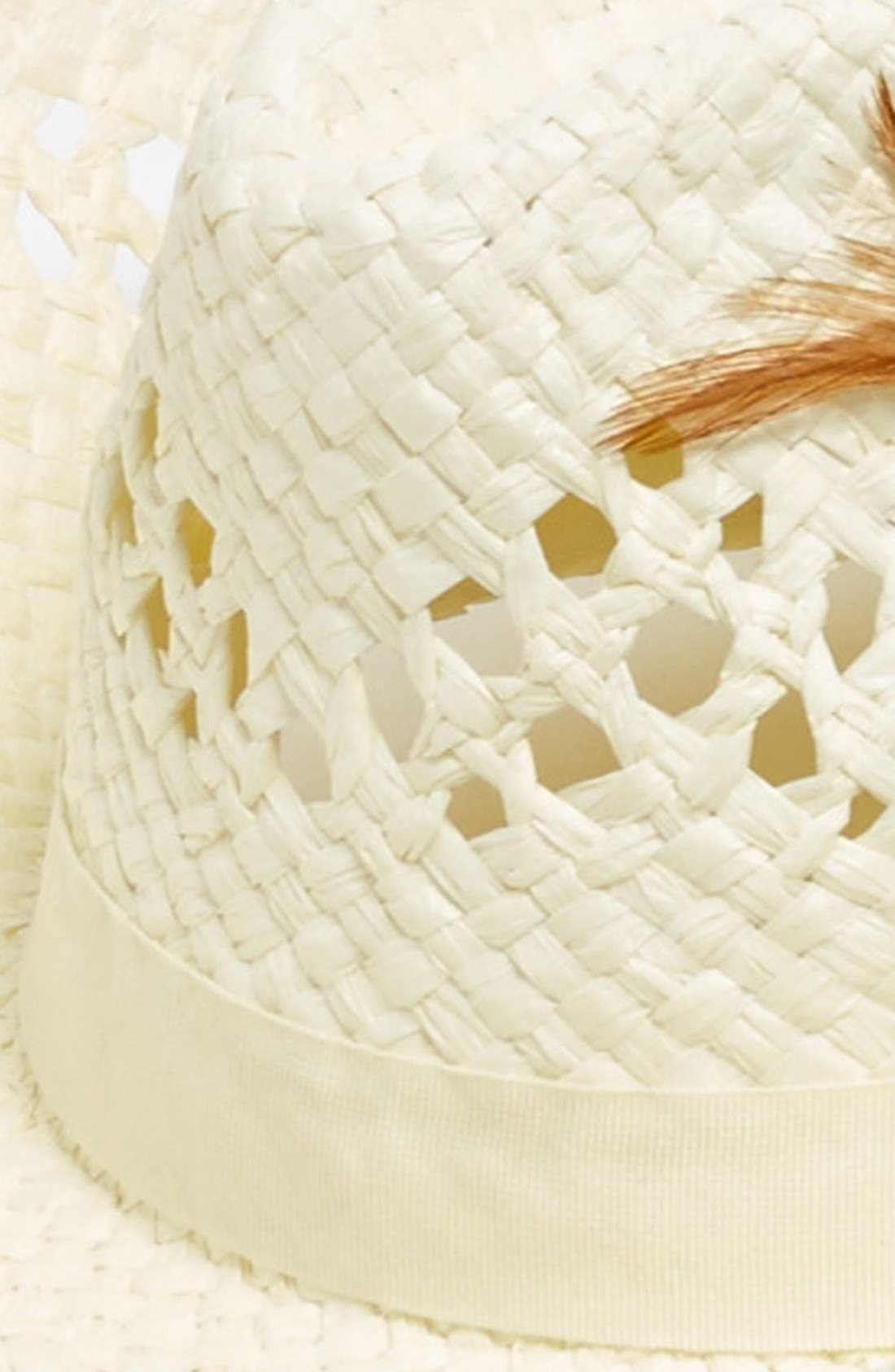 Alternate Image 2  - David & Young Open Weave Cowboy Hat (Juniors) (Online Only)