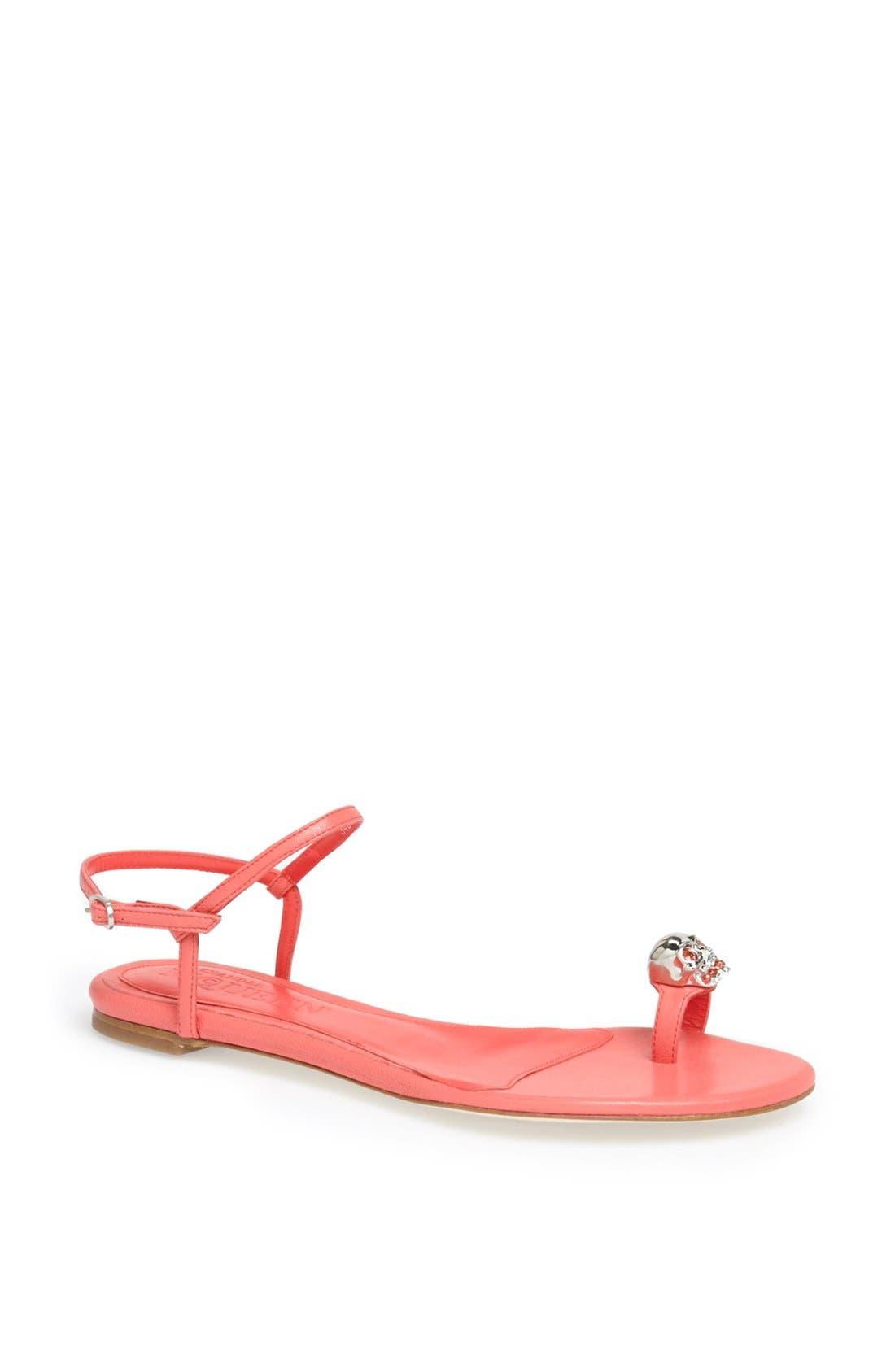 Alternate Image 1 Selected - Alexander McQueen 'Skull' Sandal