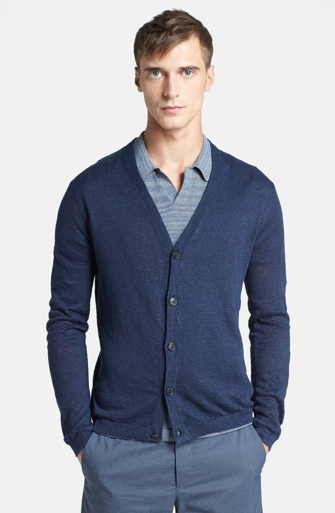 Alternate Image 1 Selected - Theory 'Artur Longitude' Linen Blend Cardigan