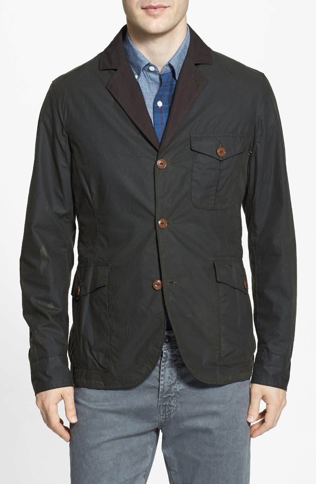 Alternate Image 1 Selected - Barbour 'Stanley' Weatherproof Waxed Regular Fit Jacket