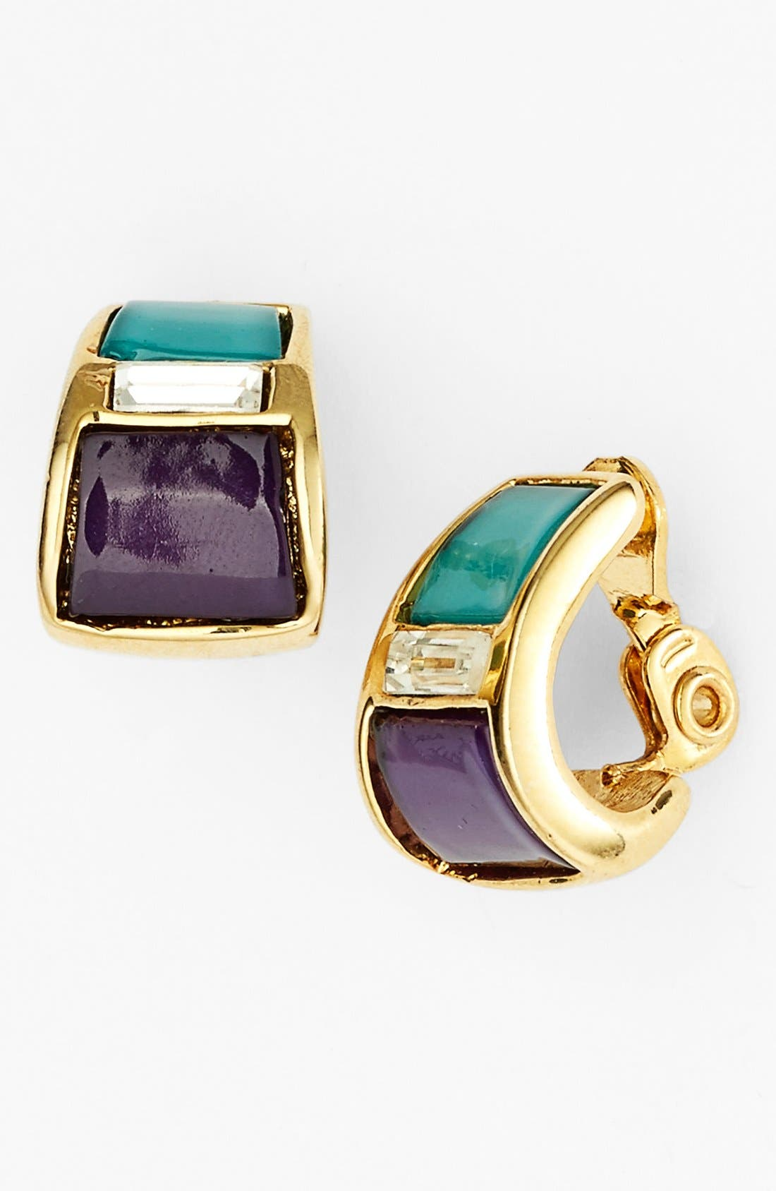 Main Image - Anne Klein Small Clip-On Hoop Earrings