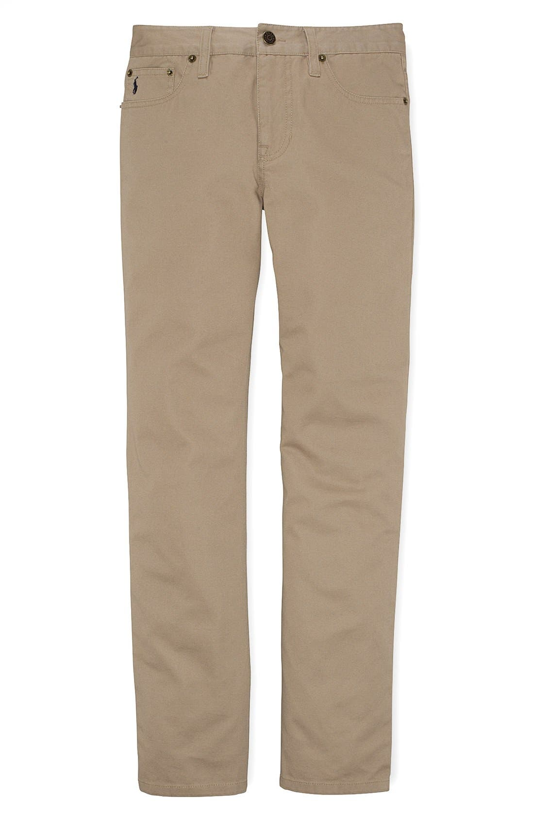 Alternate Image 1 Selected - Ralph Lauren Chinos (Big Boys)