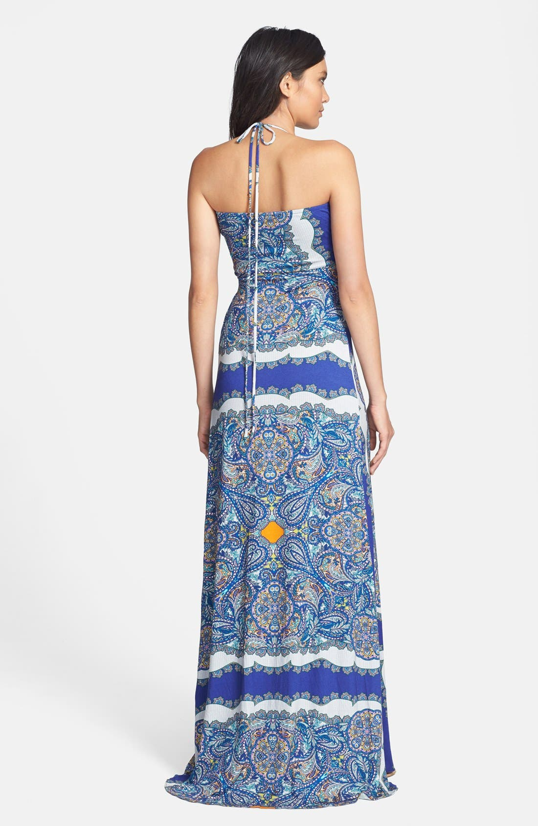 Alternate Image 2  - Sky 'Samuelaa' Print Halter Maxi Dress