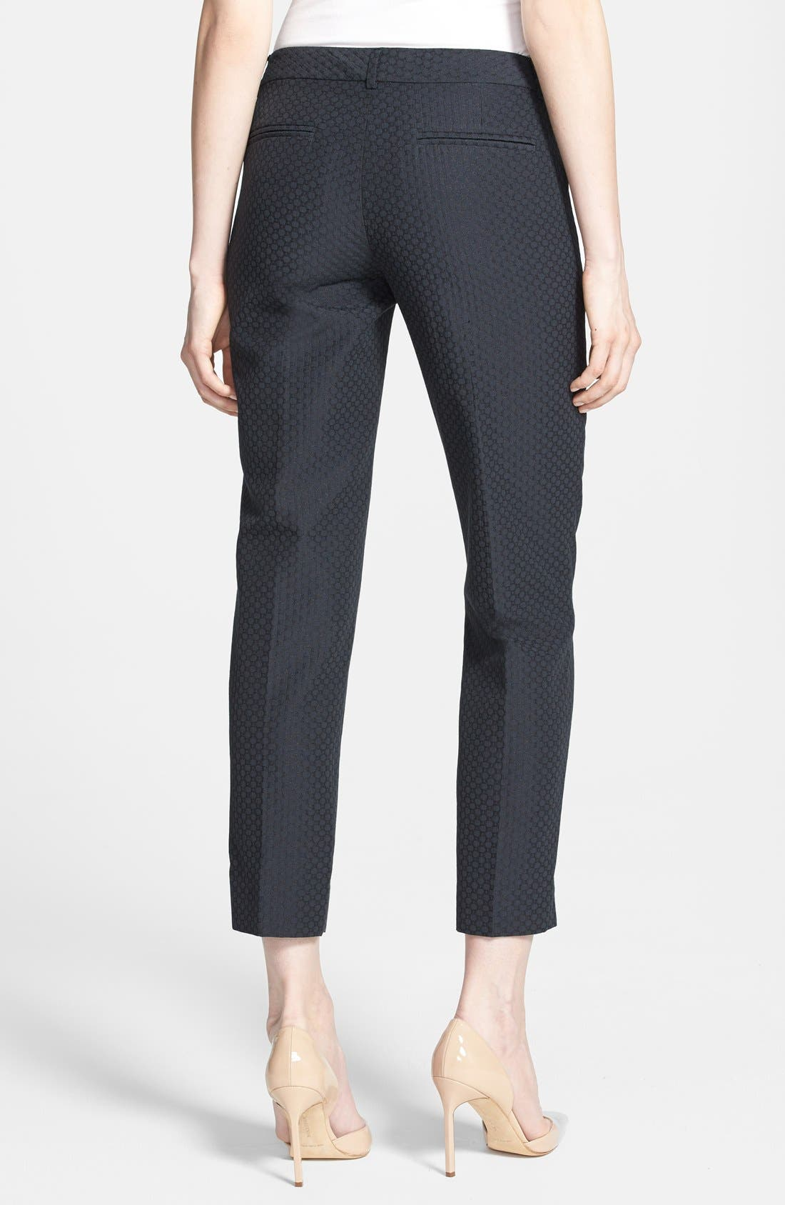 Alternate Image 2  - Chelsea28 Slim Jacquard Crop Pants