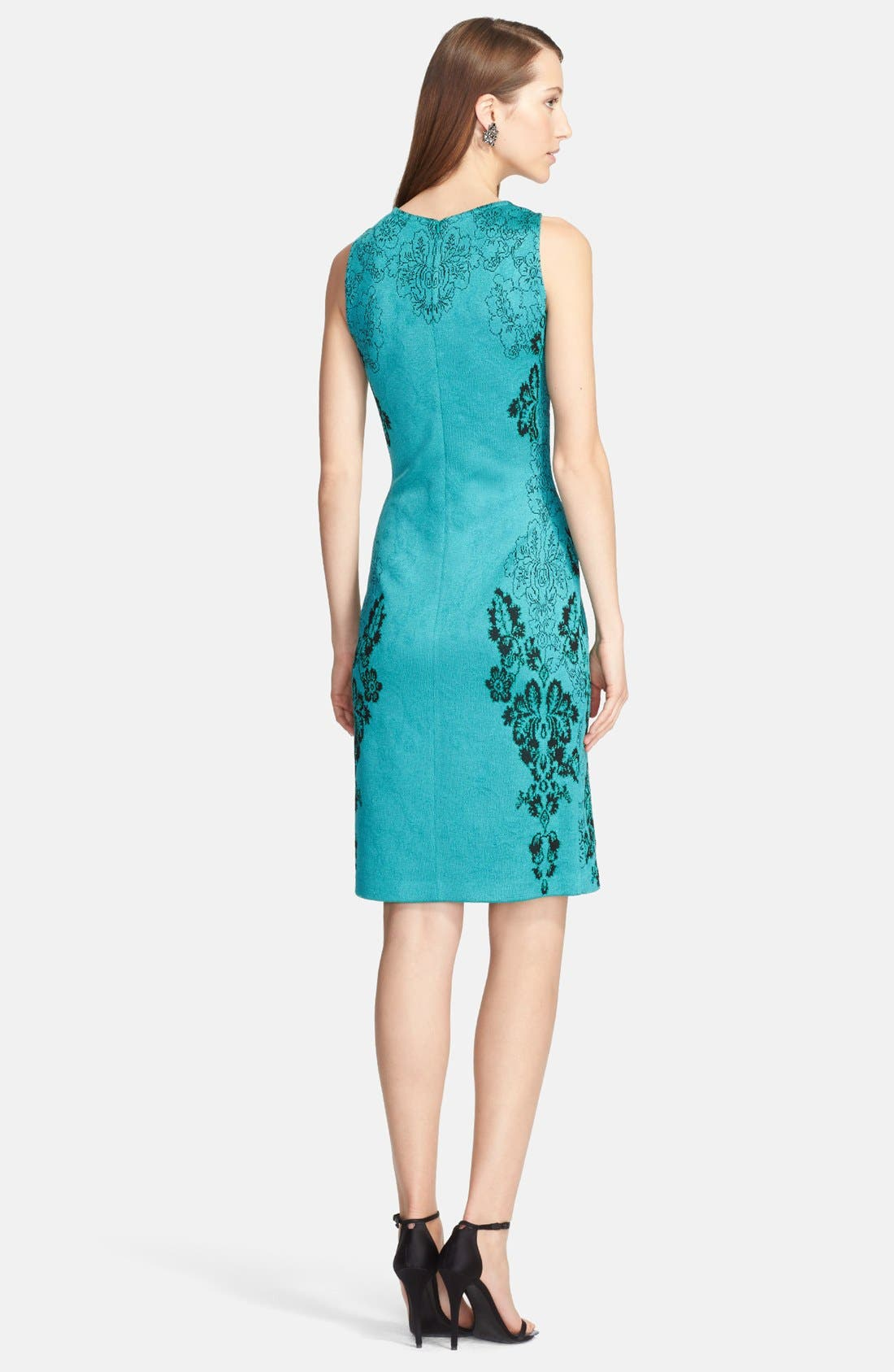 Alternate Image 3  - St. John Collection 'Floral Cascade' Jacquard Knit Sheath Dress