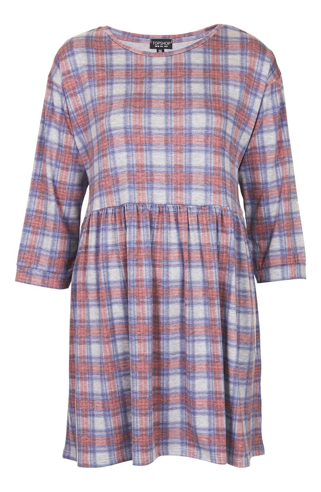 Alternate Image 3  - Topshop Check Smock Dress