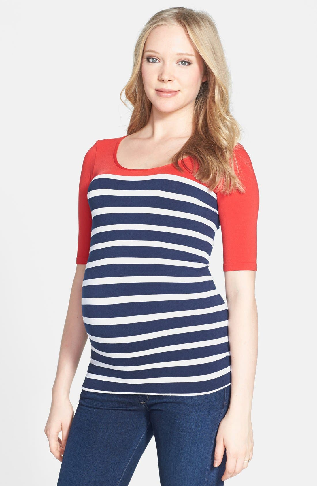 'st. Barts' Ballet Sleeve Maternity Top by Tees By Tina