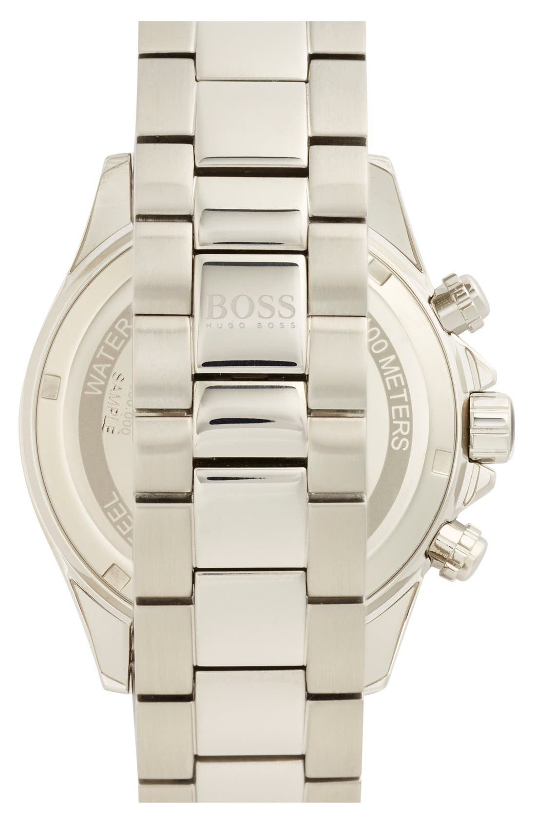 Alternate Image 2  - BOSS HUGO BOSS Round Chronograph Bracelet Watch, 44mm
