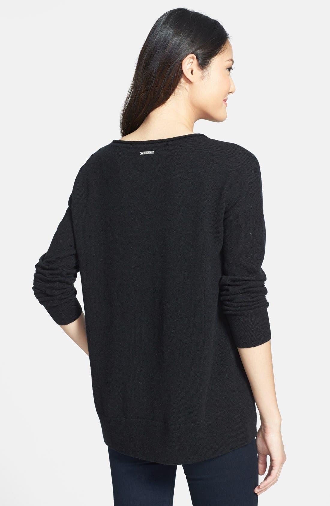 Alternate Image 2  - MICHAEL Michael Kors Drop Shoulder Cashmere Sweater