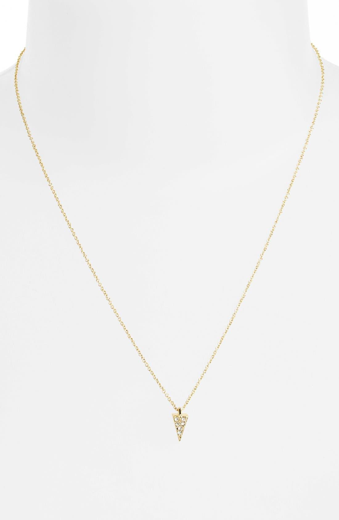 Alternate Image 2  - Rebecca Minkoff 'Jewel Box' Pavé Mini Spike Pendant Necklace
