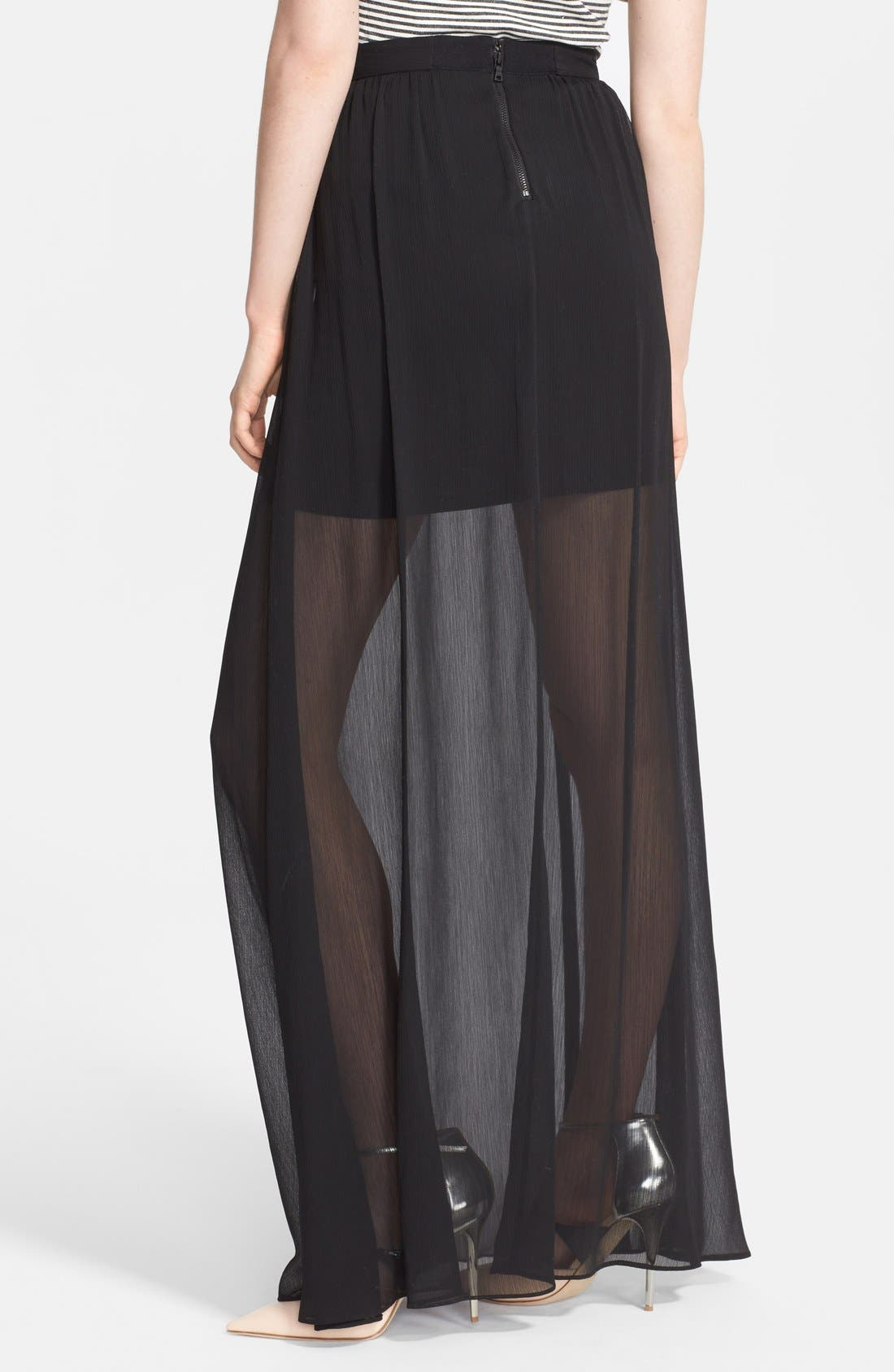 Alternate Image 2  - Alice + Olivia Chiffon Maxi Skirt