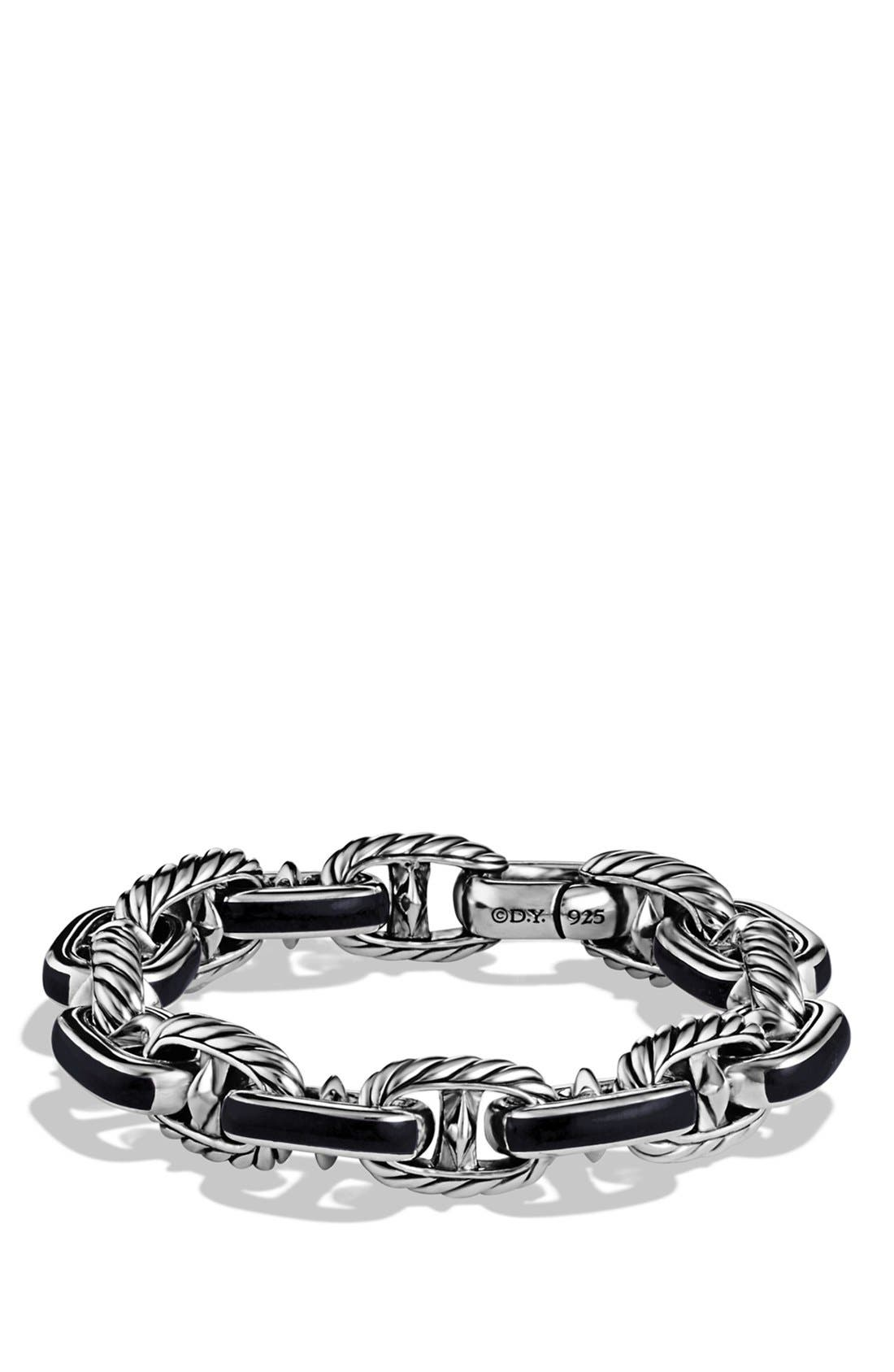 Main Image - ANCHOR LINK BRACELET 11.5MM SS W/ BLACK ONYX