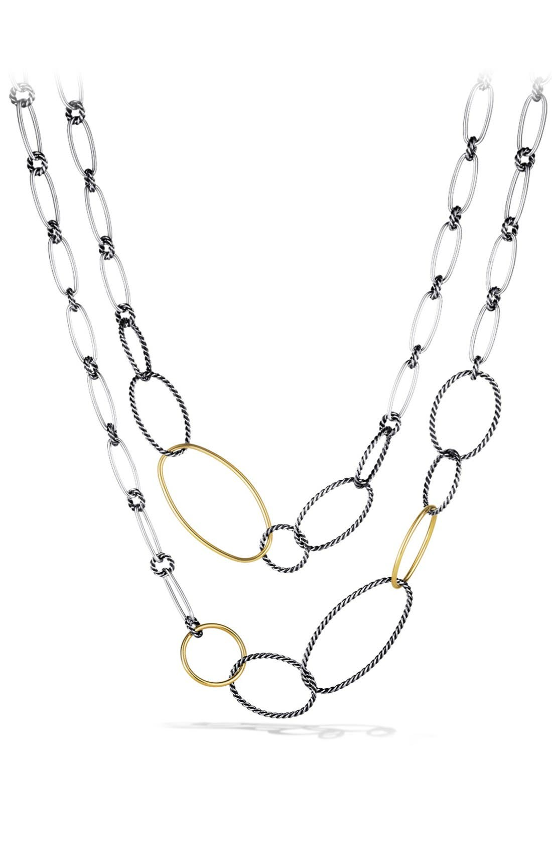 David Yurman 'Mobile' Link Necklace with Gold