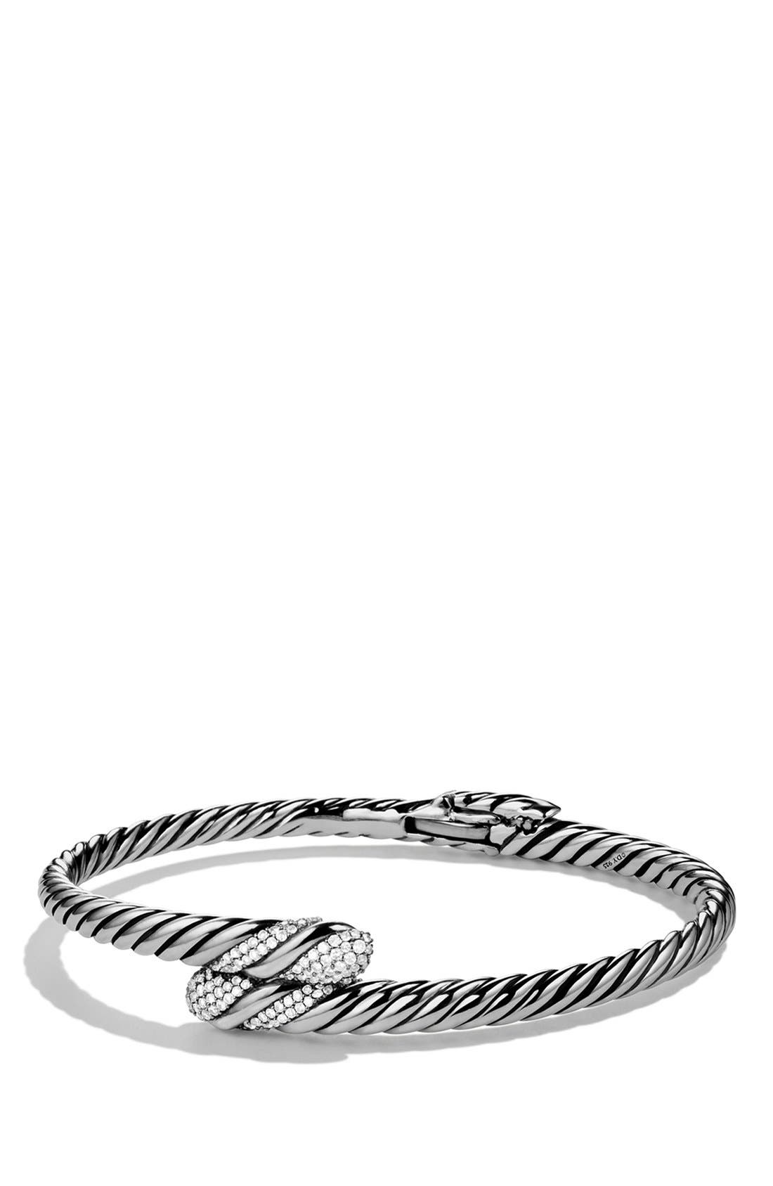 Alternate Image 1 Selected - David Yurman 'Willow' Single Row Bracelet with Diamonds