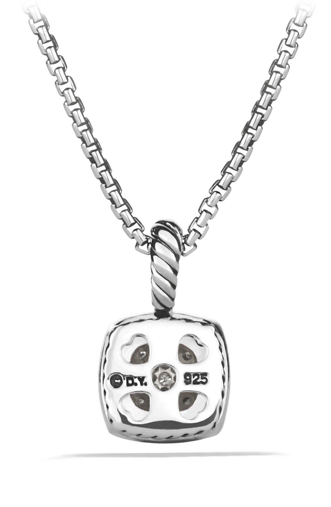 'Albion' Petite Pendant with Diamonds on Chain,                             Alternate thumbnail 2, color,                             Diamond
