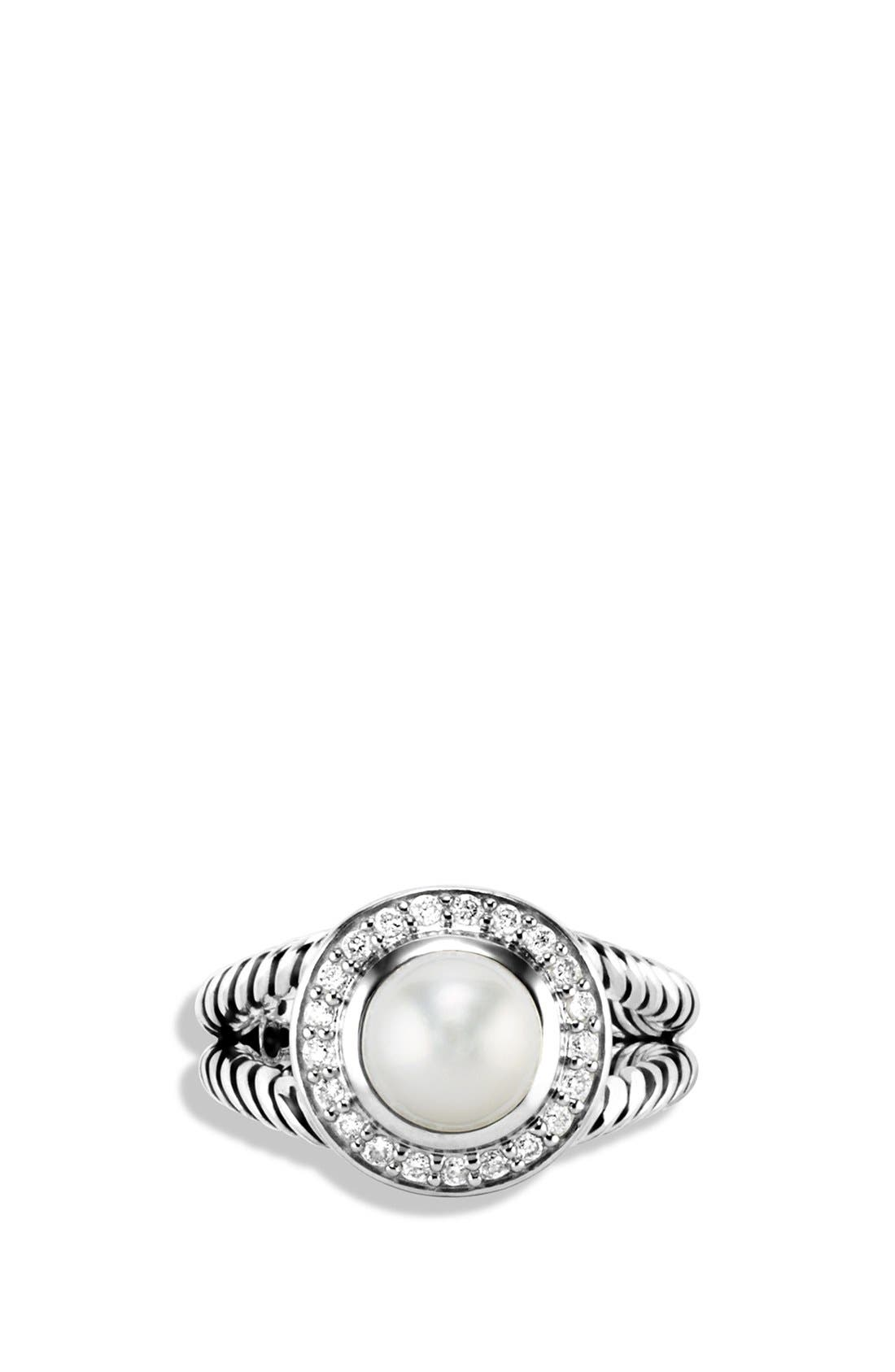 Alternate Image 3  - David Yurman 'Petite Cerise' Ring with Pearl and Diamonds
