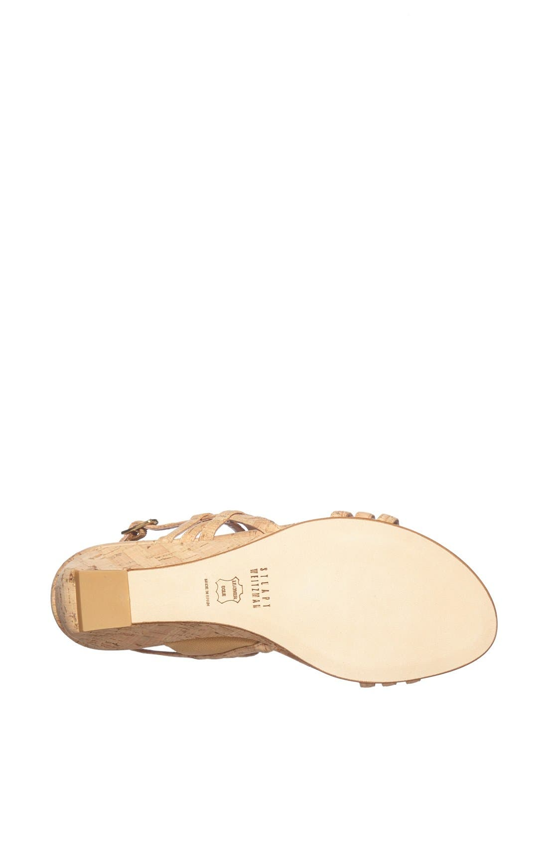Alternate Image 3  - Stuart Weitzman 'Playful' Metallic Leather Sandal
