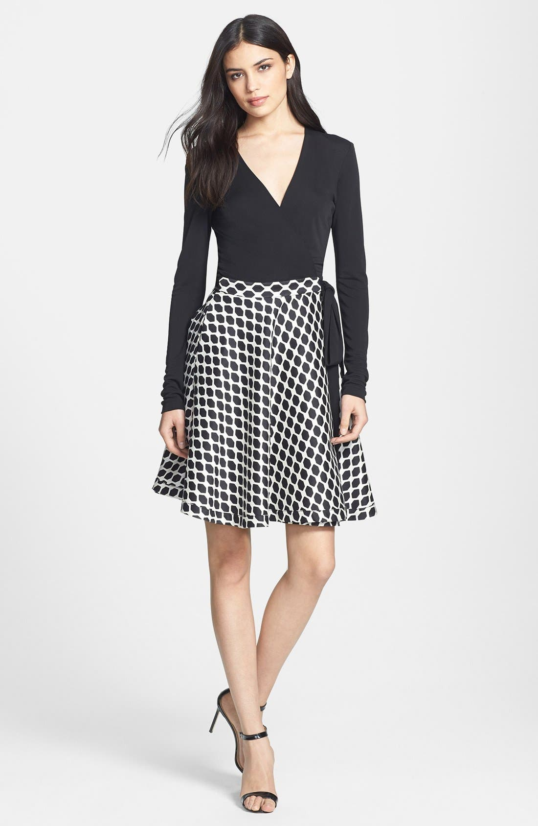 Alternate Image 1 Selected - Diane von Furstenberg 'Amelia' Woven Wrap Dress