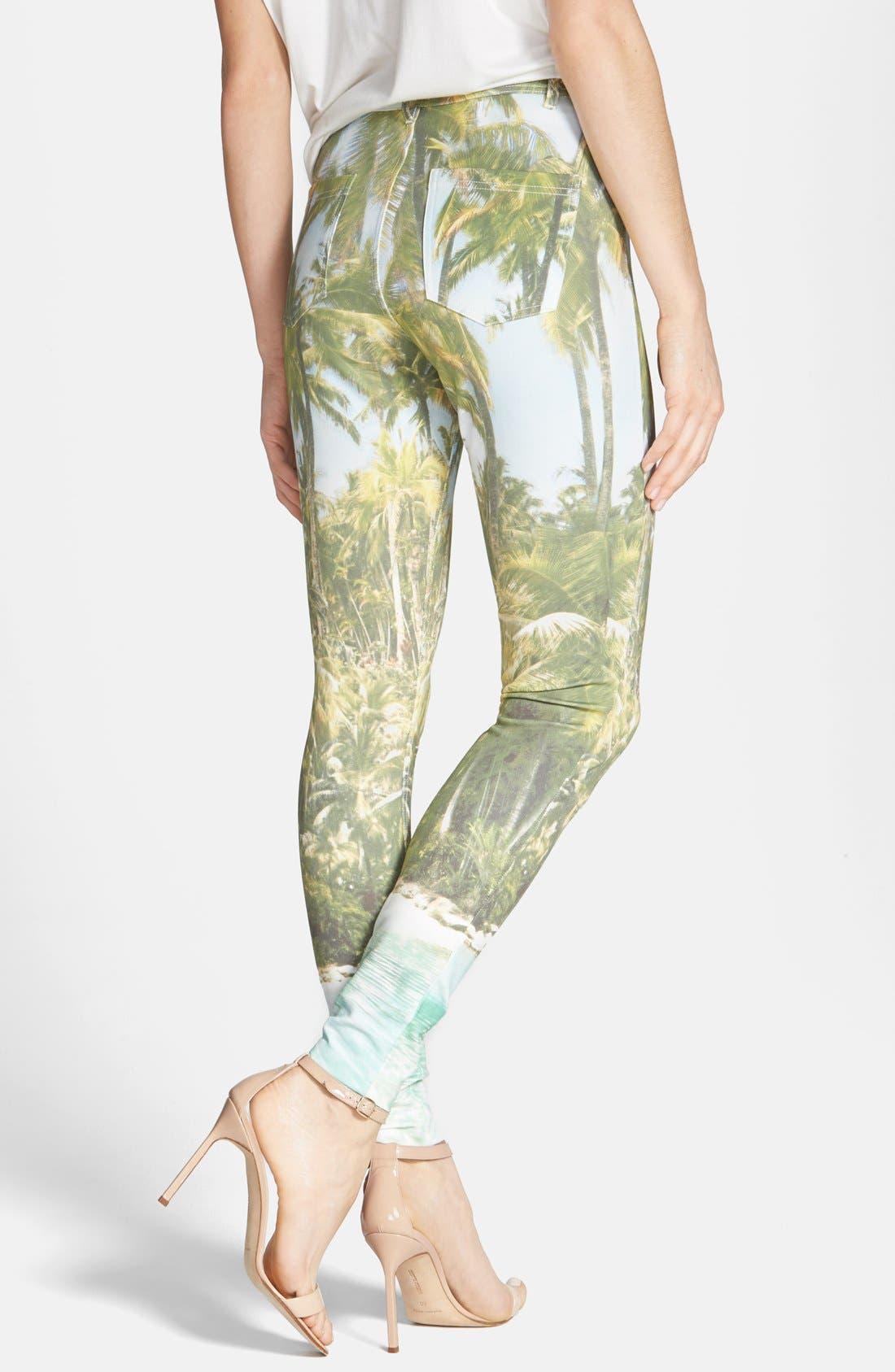 Alternate Image 2  - Hue 'Tropical Sleek' Ponte Leggings