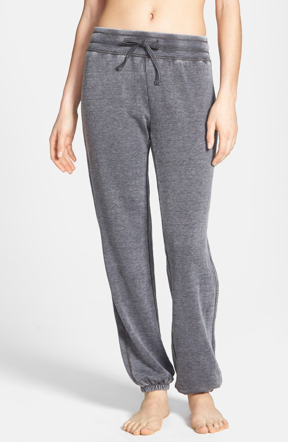 Alternate Image 1 Selected - Marc New York by Andrew Marc Distressed Fleece Sweatpants