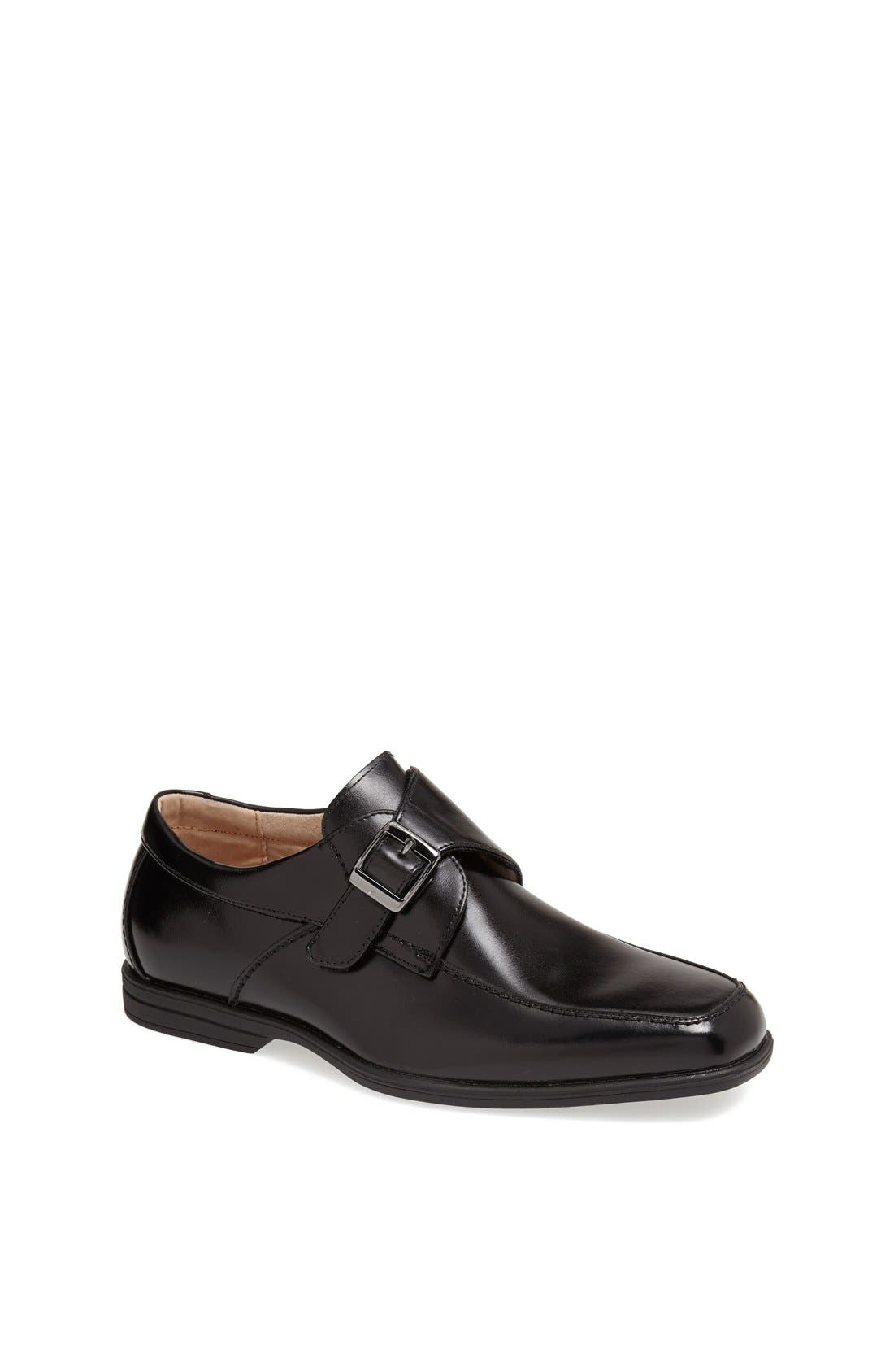'Reveal' Monk Strap Slip-On,                             Main thumbnail 1, color,                             Black