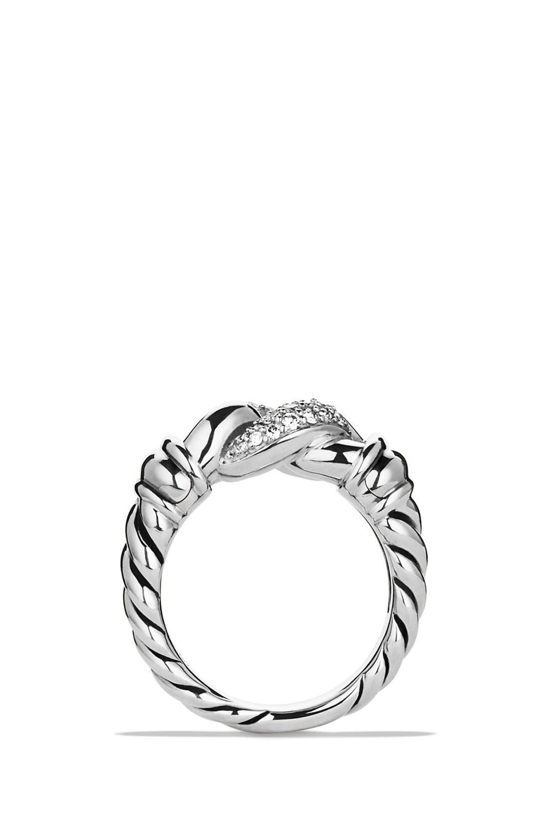Alternate Image 2  - David Yurman 'Metro' Curb Wide Ring with Diamonds