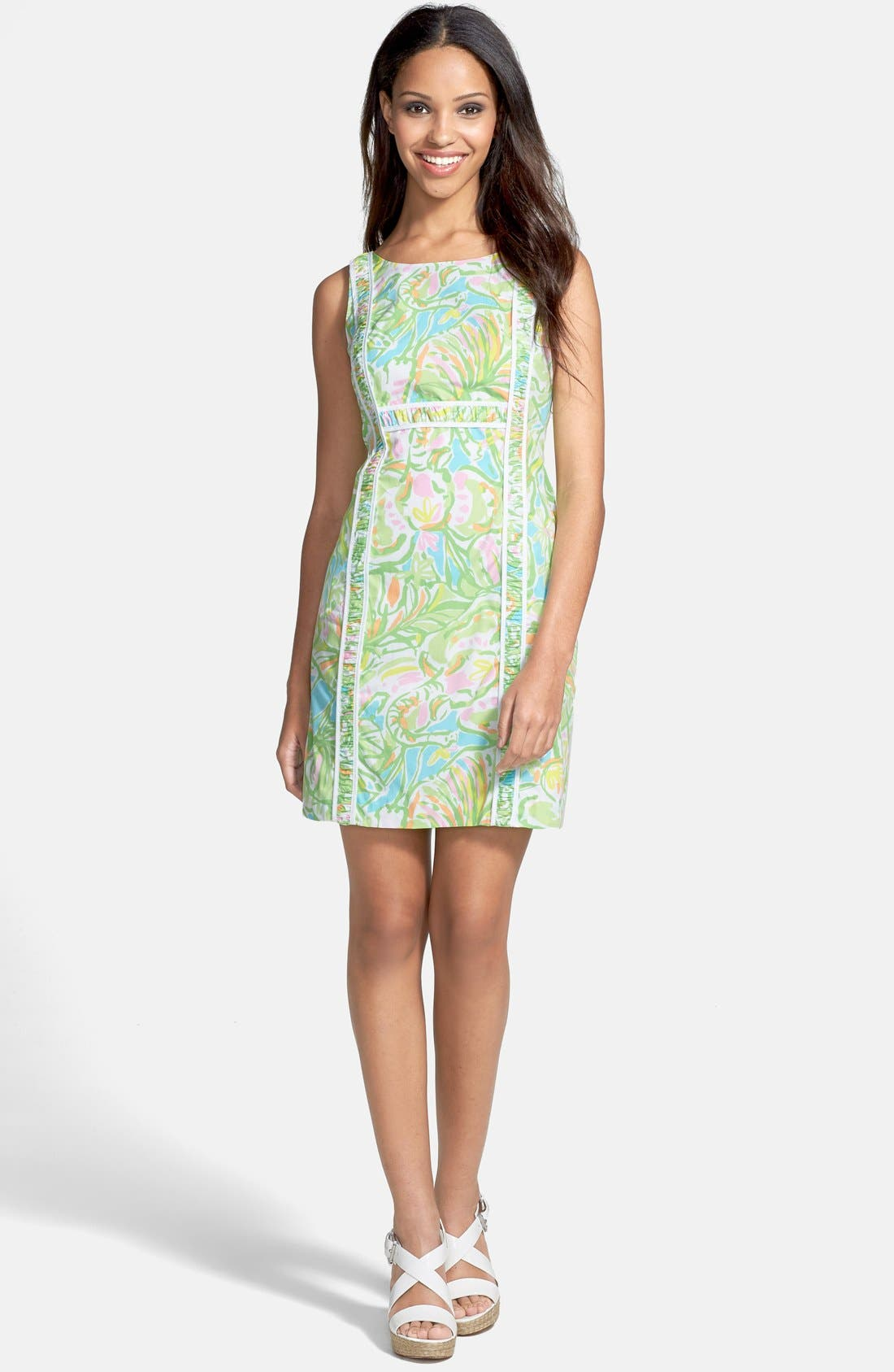 Main Image - Lilly Pulitzer® 'Fryer' Print Cotton Poplin Shift Dress