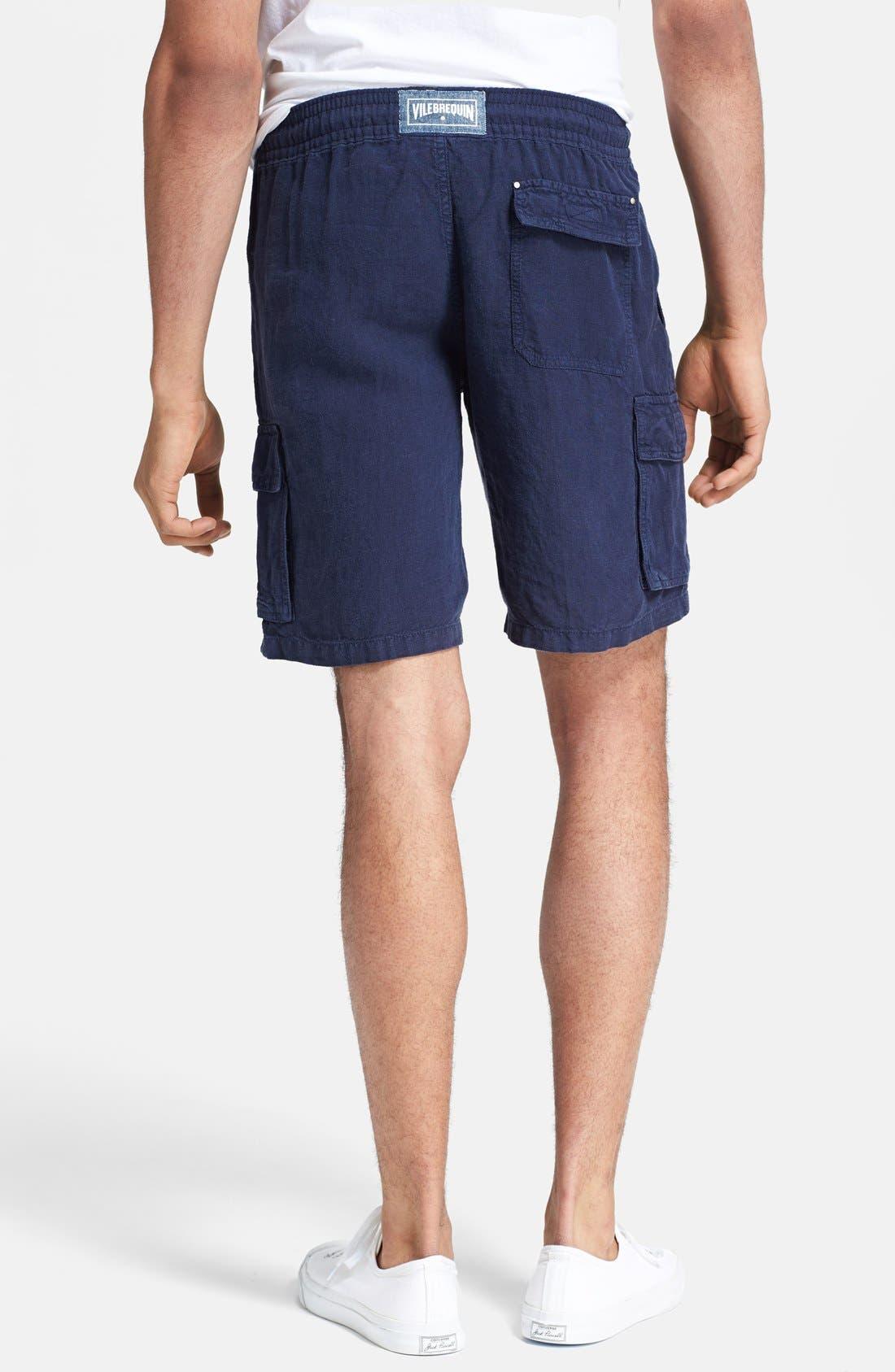 Alternate Image 2  - Vilebrequin 'Baie' Linen Cargo Shorts