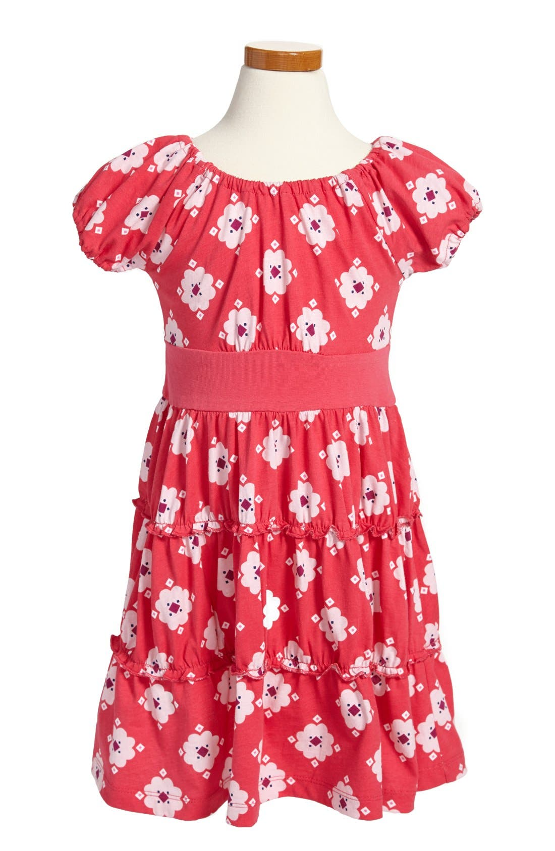 Alternate Image 1 Selected - Tea Collection 'Berber Floral' Twirl Dress (Baby Girls)