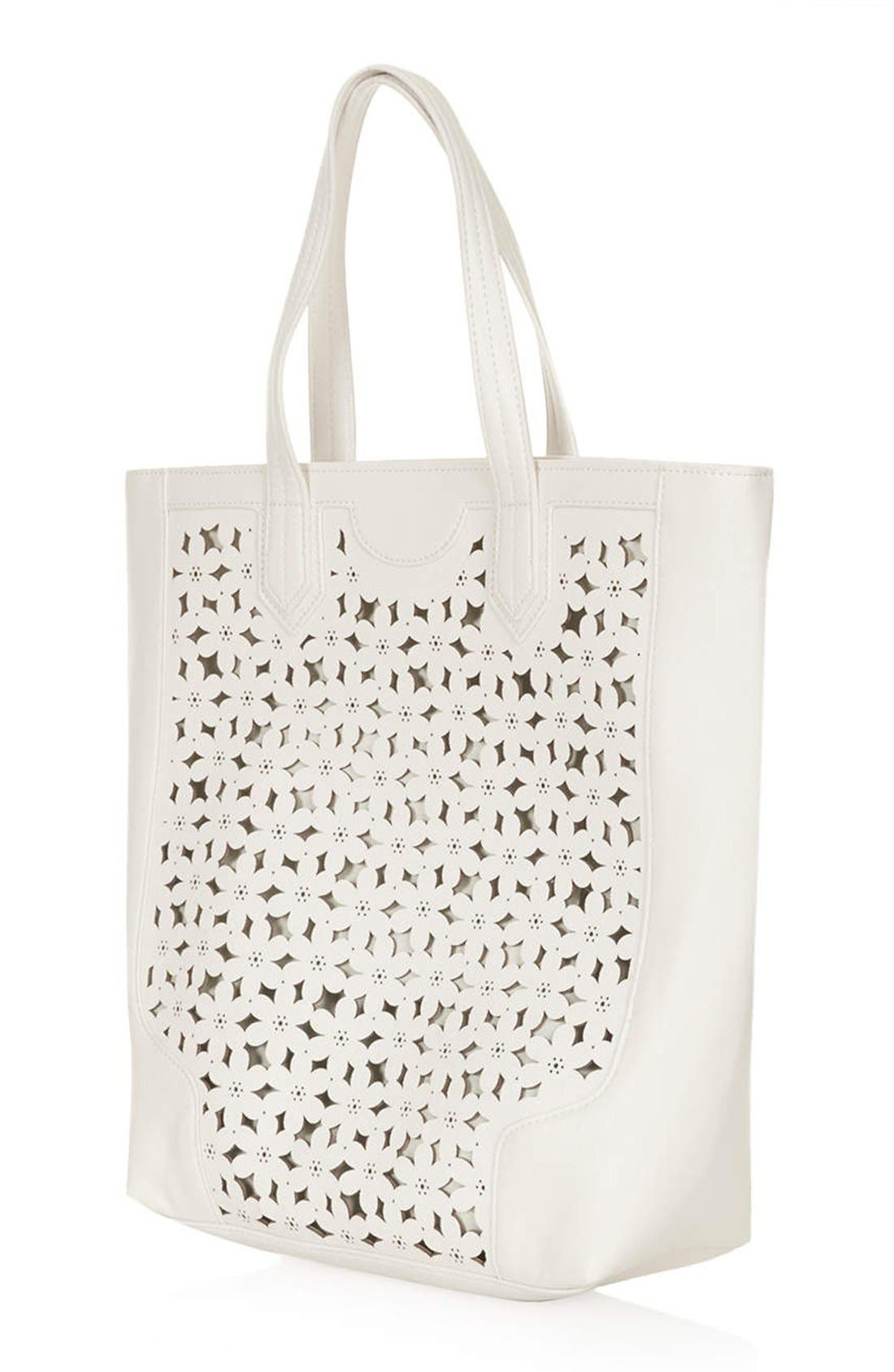 Alternate Image 4  - Topshop Daisy Cutout Tote Bag