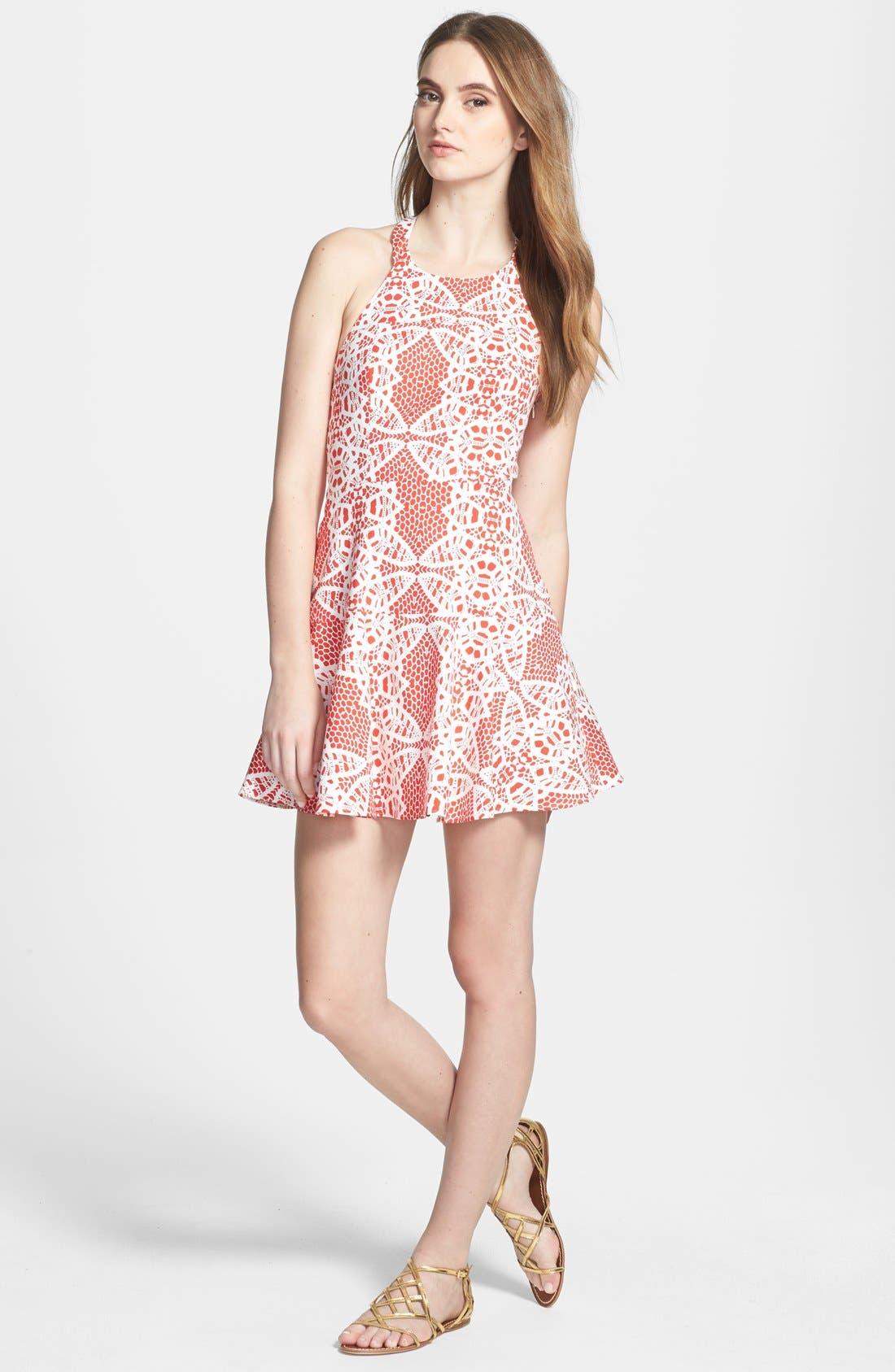 Alternate Image 1 Selected - Parker 'Leona' Cotton Blend Halter Dress