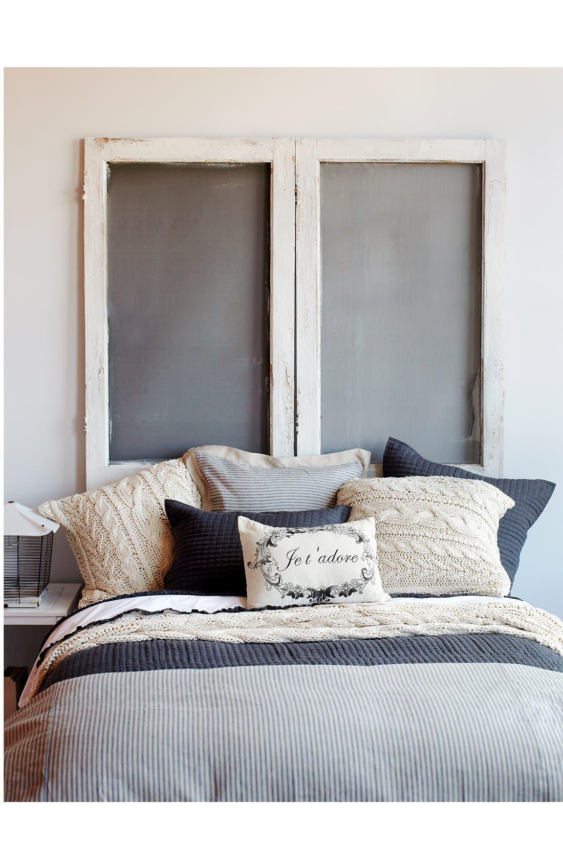 Alternate Image 3  - Amity Home 'Bernadette' Stripe Linen Euro Sham