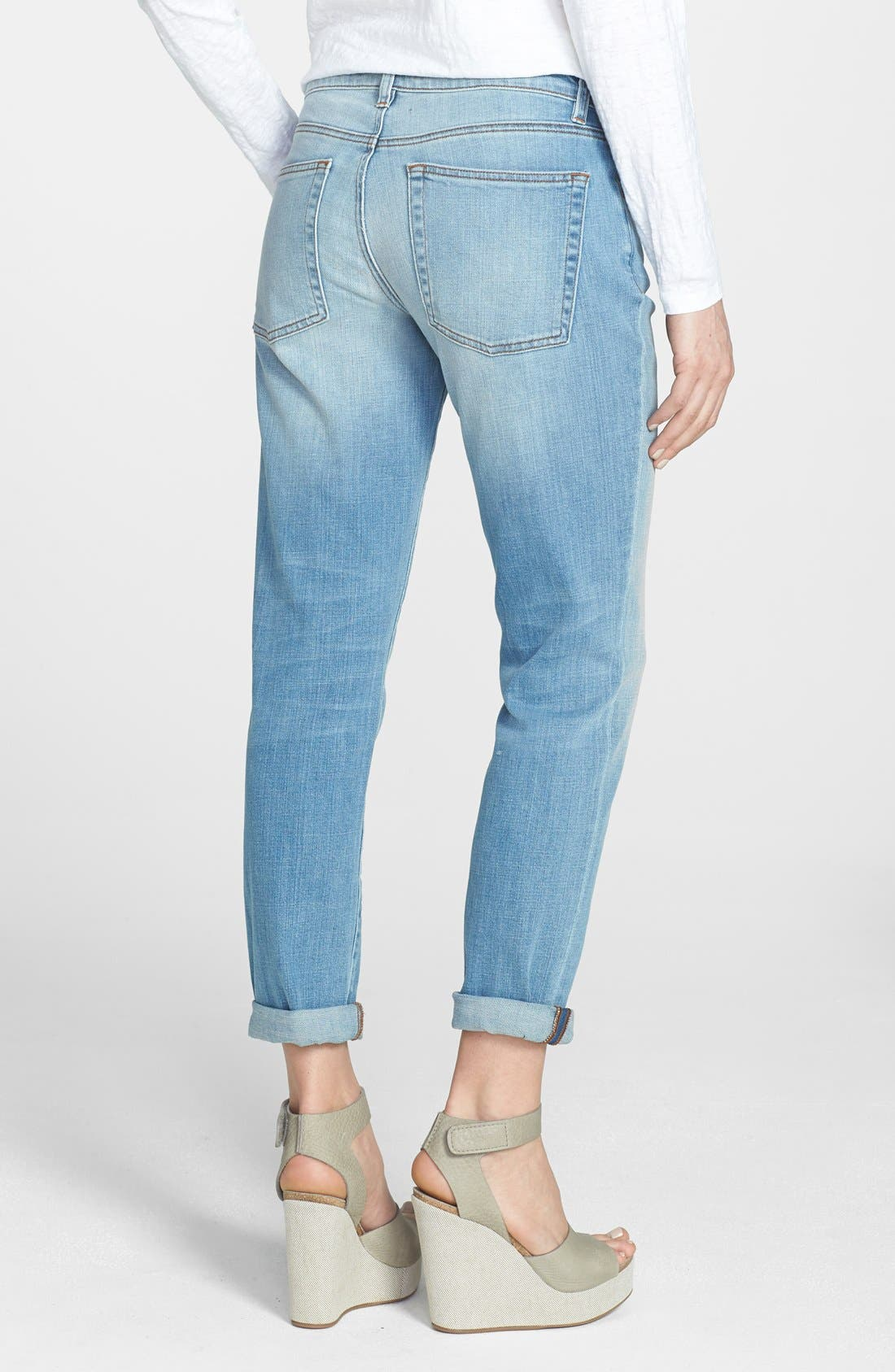 Alternate Image 2  - Eileen Fisher Boyfriend Jeans (Regular & Petite)