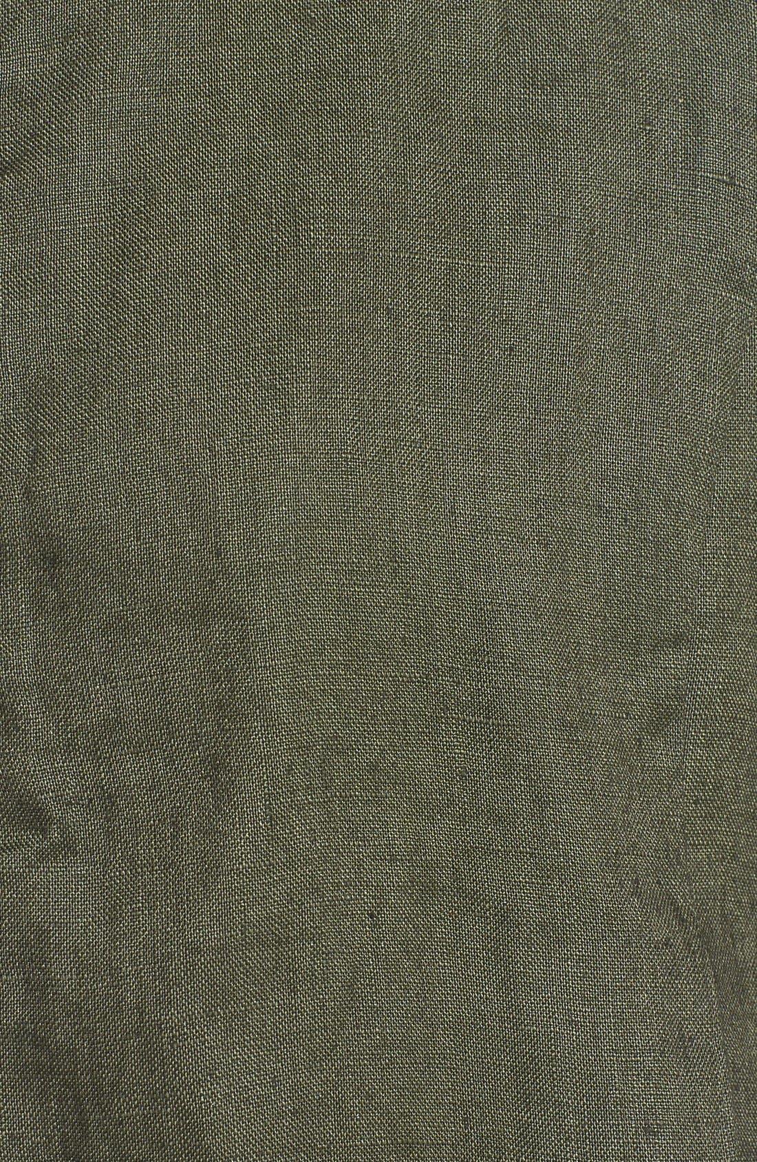 Alternate Image 3  - Olivia Moon Linen Bomber Jacket
