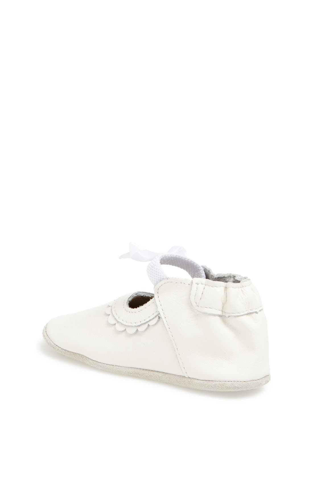 Alternate Image 2  - Robeez® 'Special Occasion' Crib Shoe (Baby & Walker)