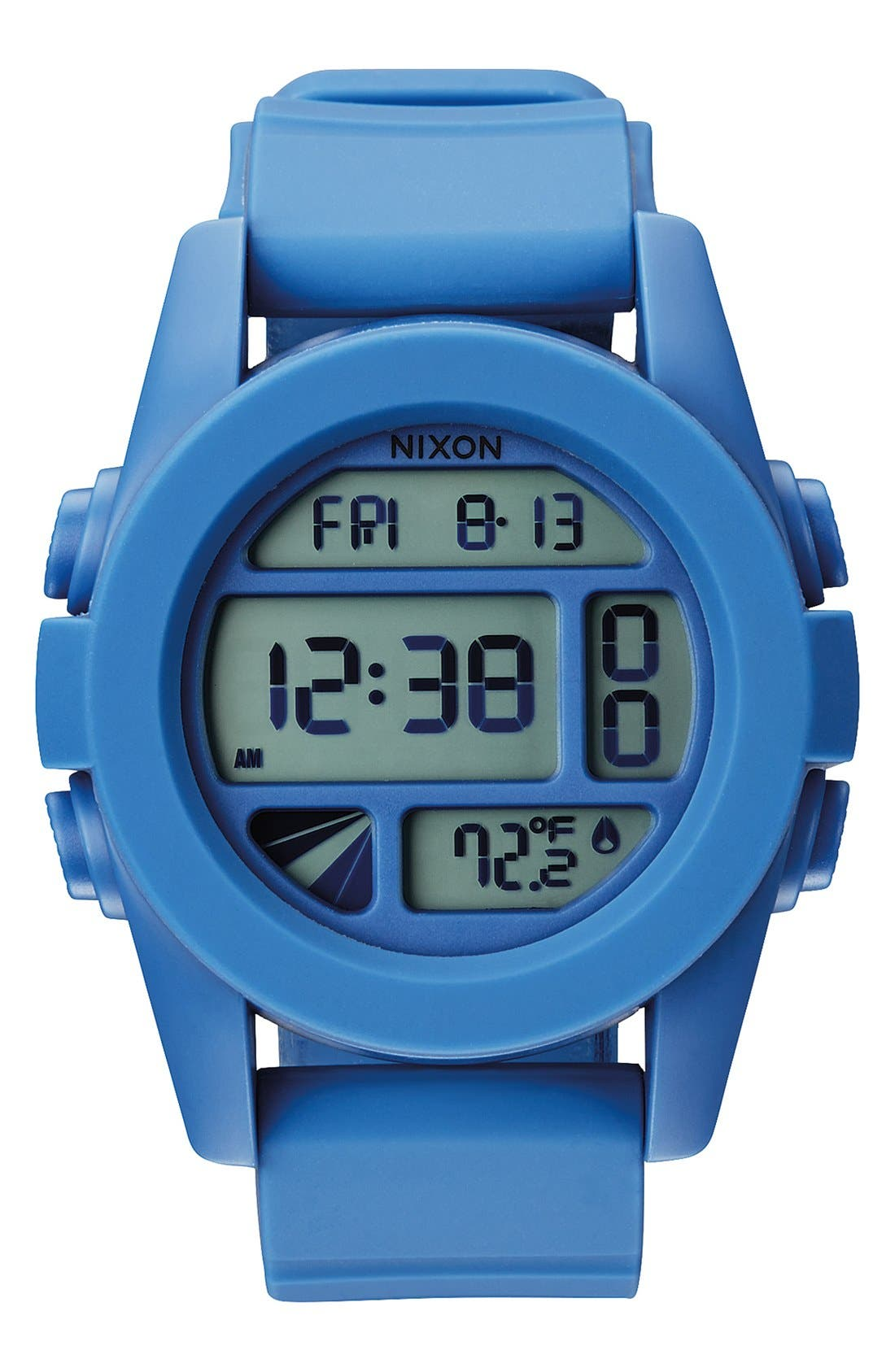 'The Unit' Round Digital Watch, 44mm,                             Main thumbnail 1, color,                             Marina Blue