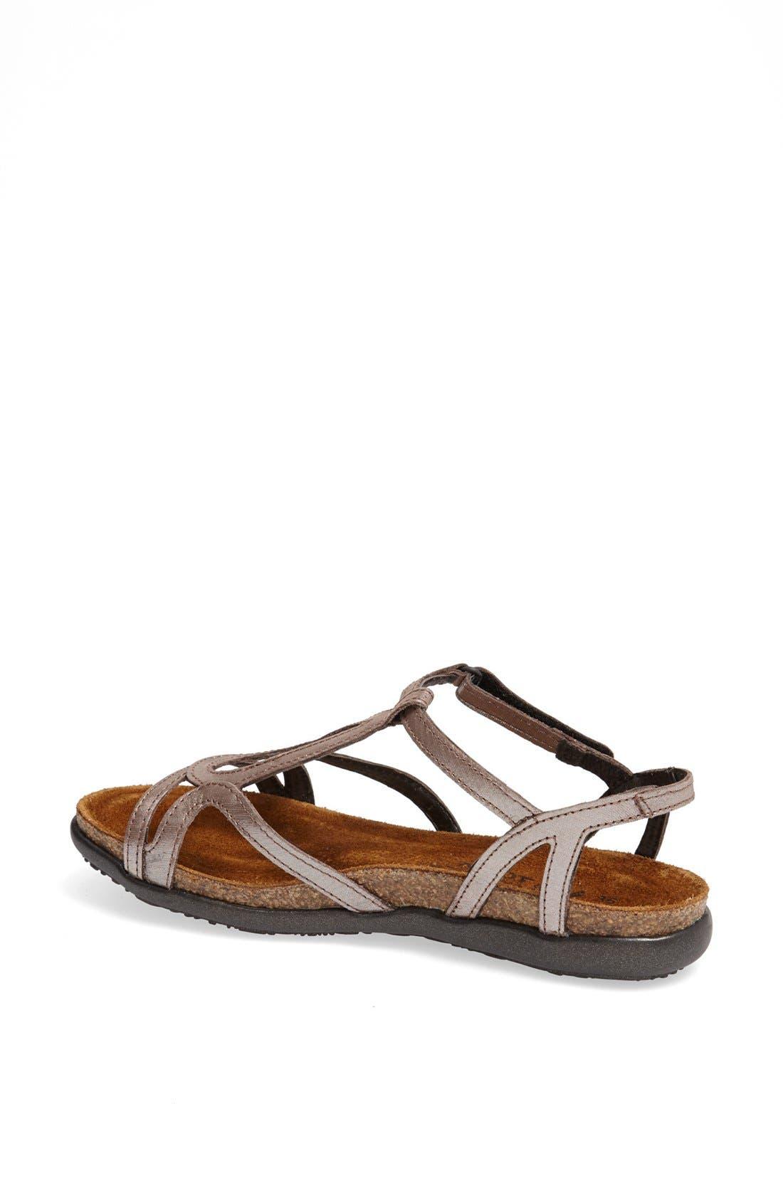 'Dorith' Sandal,                             Alternate thumbnail 2, color,                             Silver Threads Leather