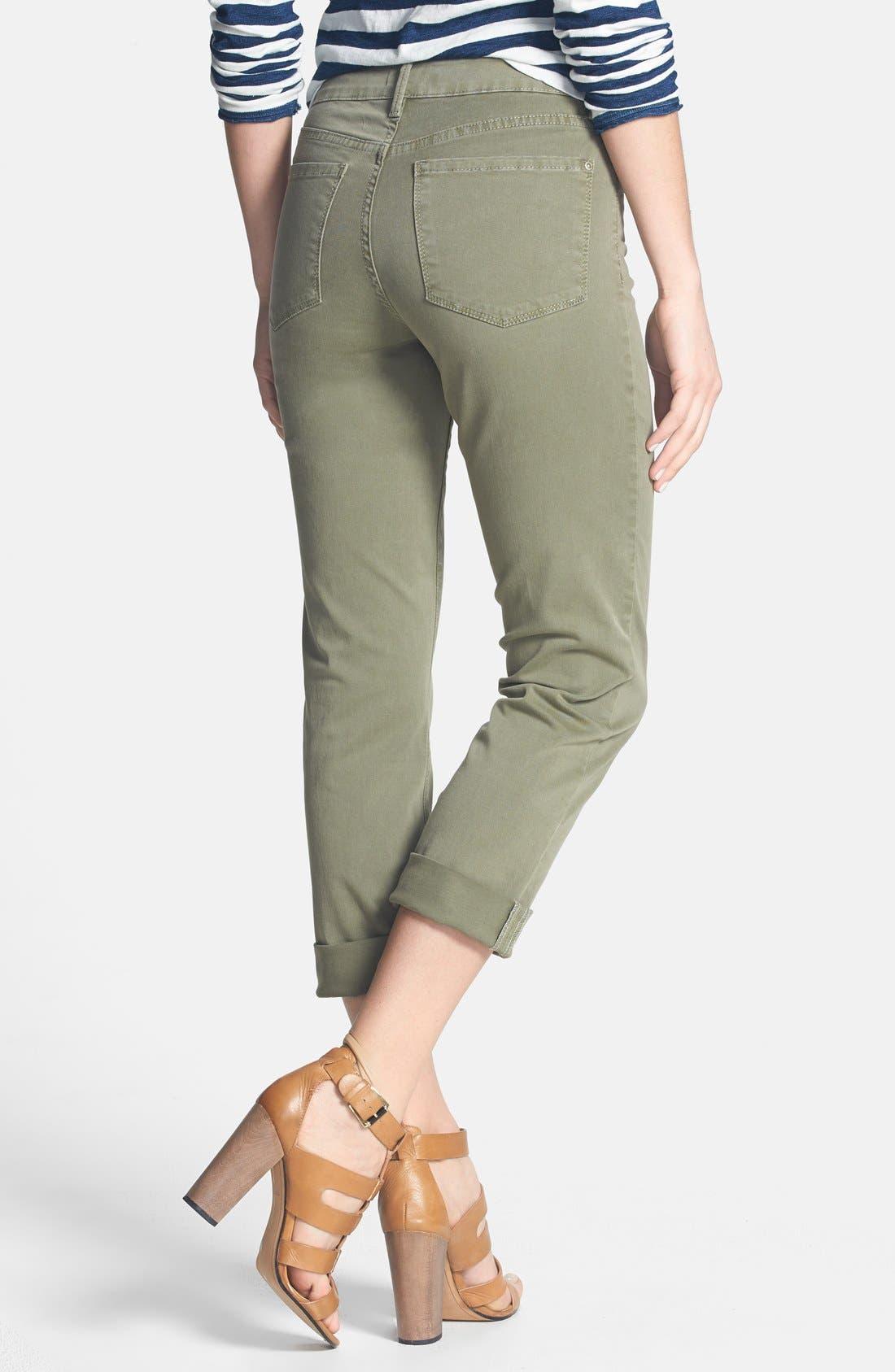 Alternate Image 2  - NYDJ 'Bobbie' Stretch Boyfriend Jeans (Fennel) (Regular & Petite)