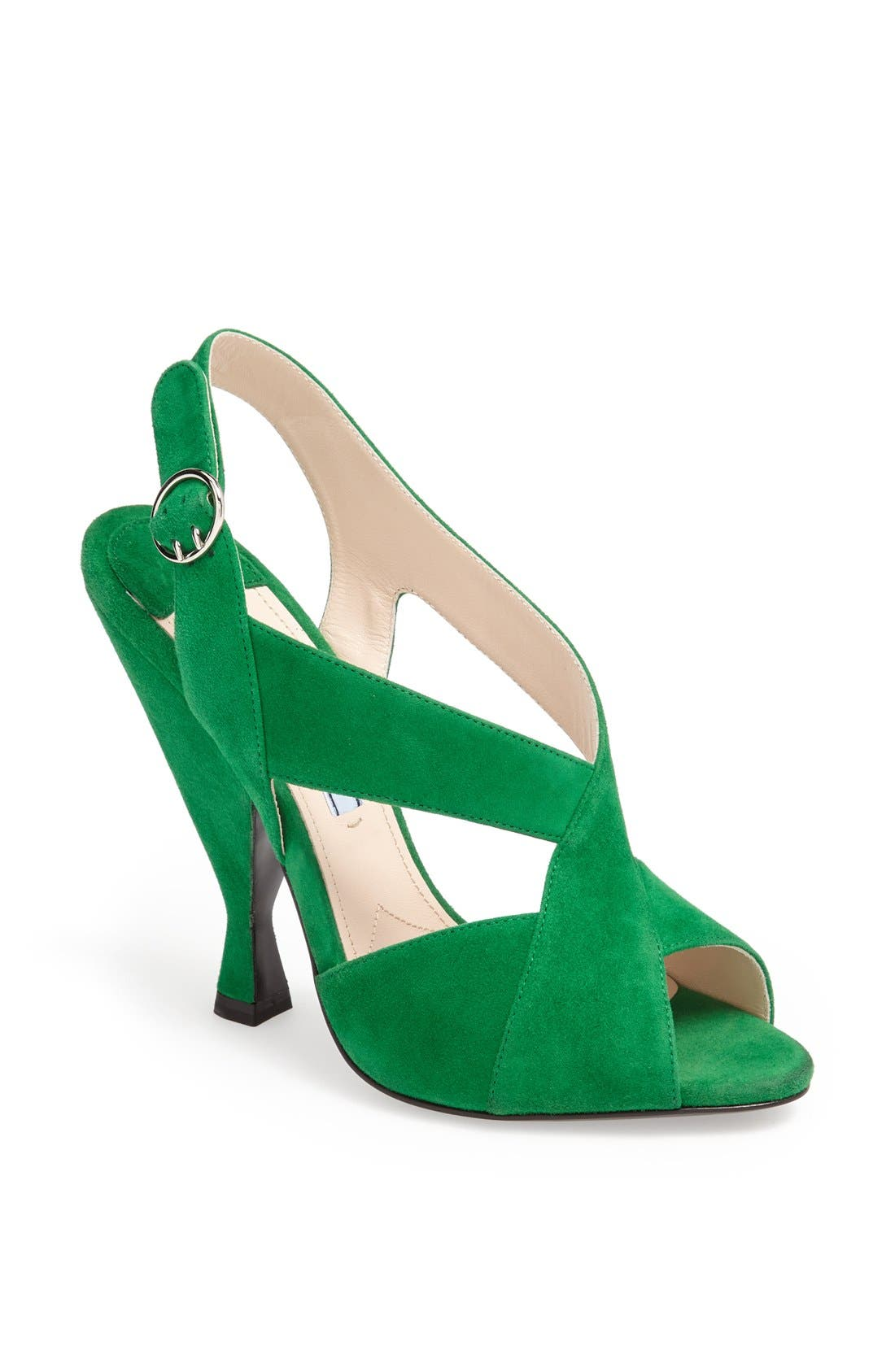 Alternate Image 1 Selected - Prada 'Hourglass' Slingback Sandal