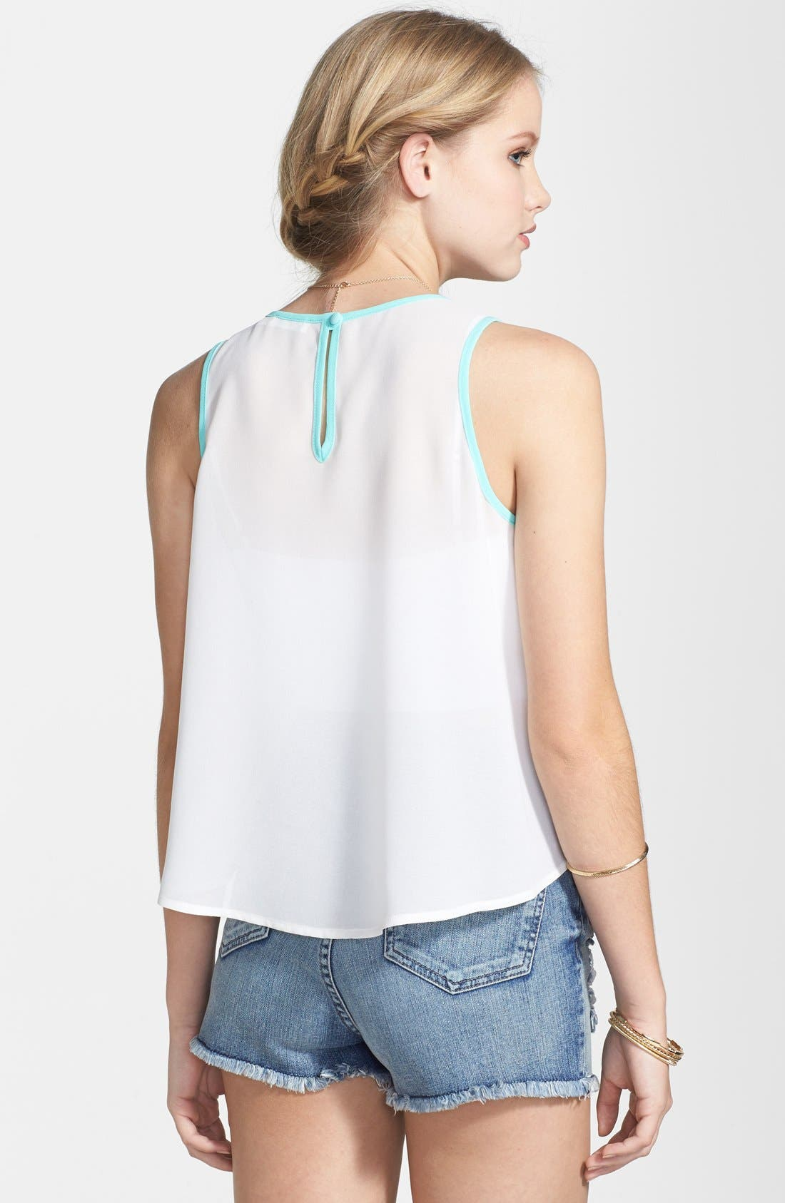 Alternate Image 2  - Embroidered Woven Tank