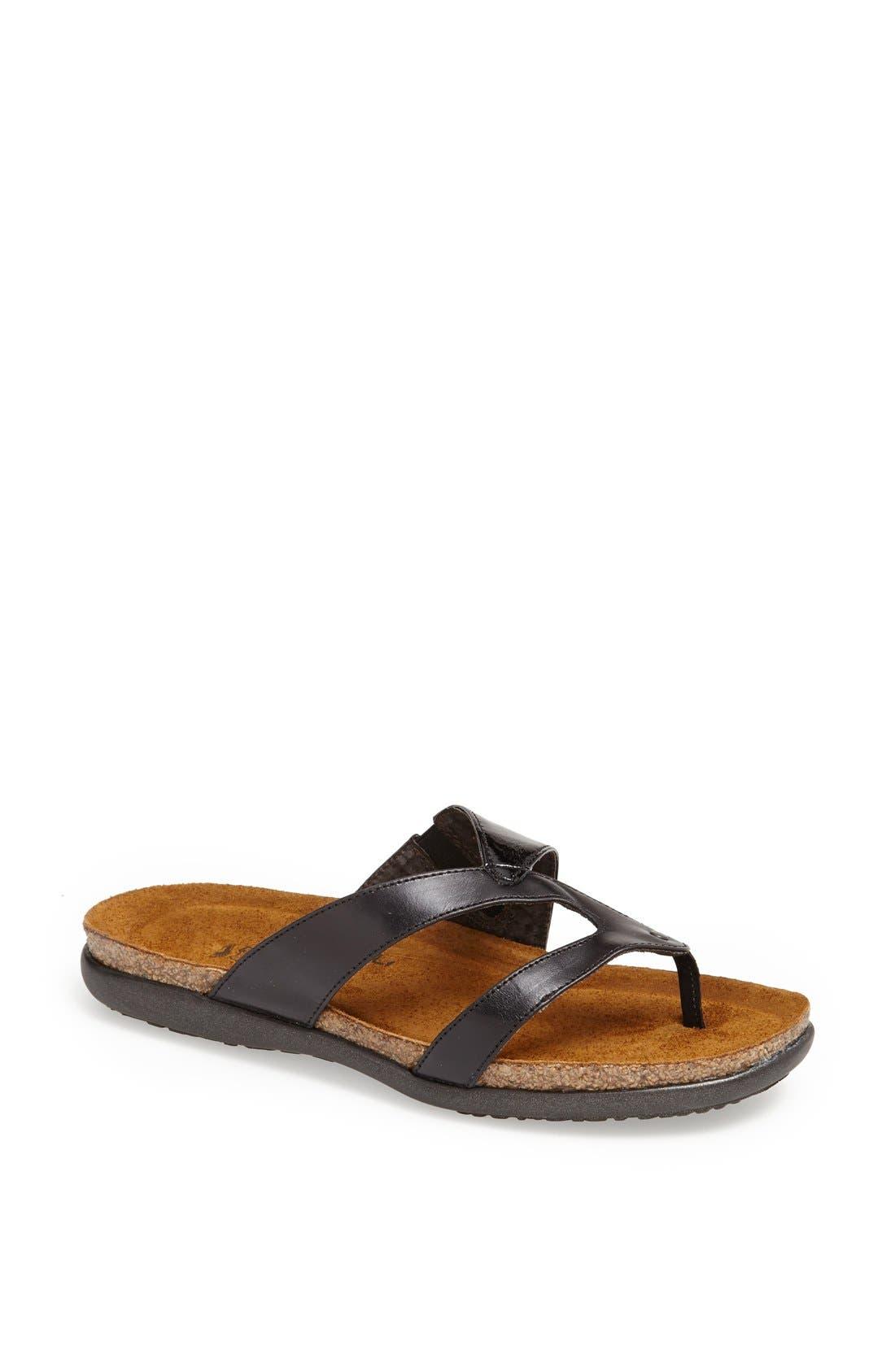 'Francine' Sandal,                         Main,                         color, Black