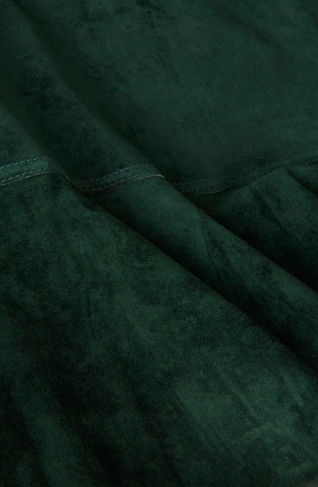Alternate Image 4  - Topshop Unique Flippy Suede Skirt