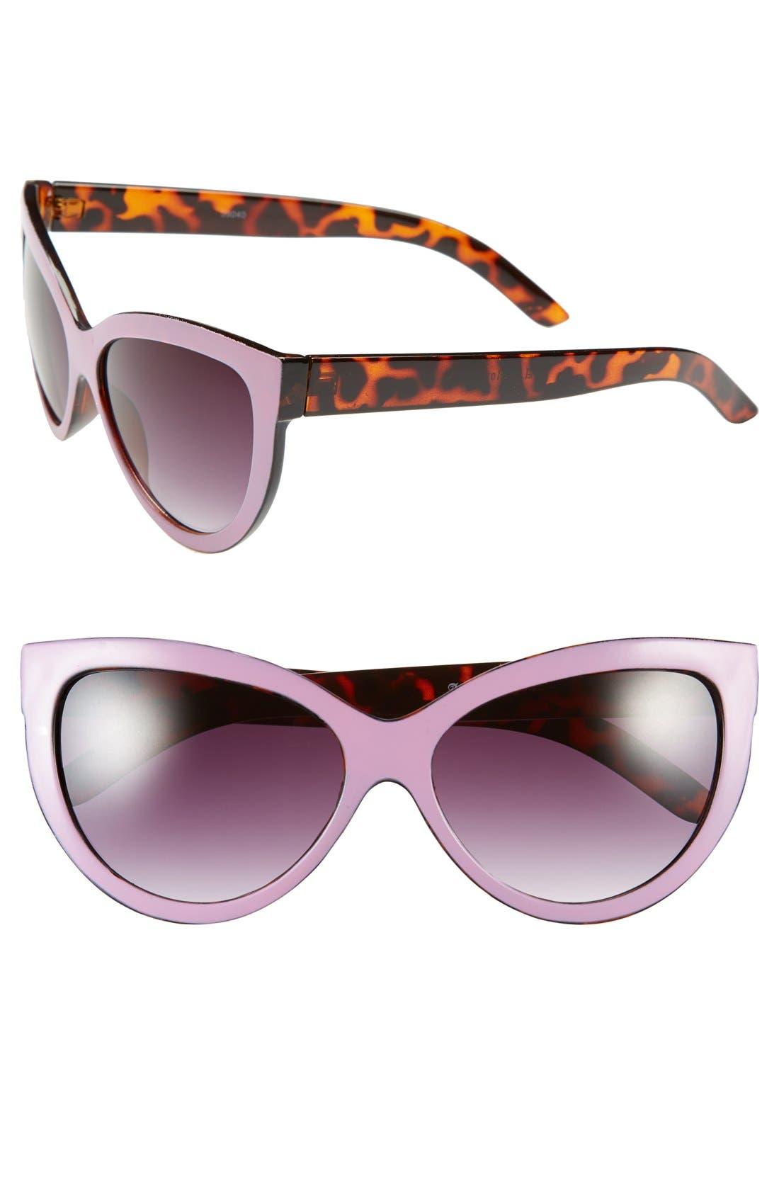 Alternate Image 1 Selected - A.J. Morgan 'Love Story' 57mm Cat Eye Sunglasses