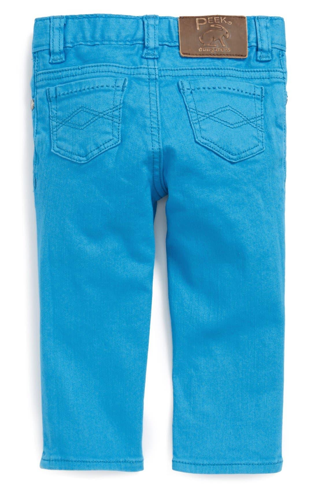 Alternate Image 1 Selected - Peek 'Maya' Skinny Jeans (Baby Girls)
