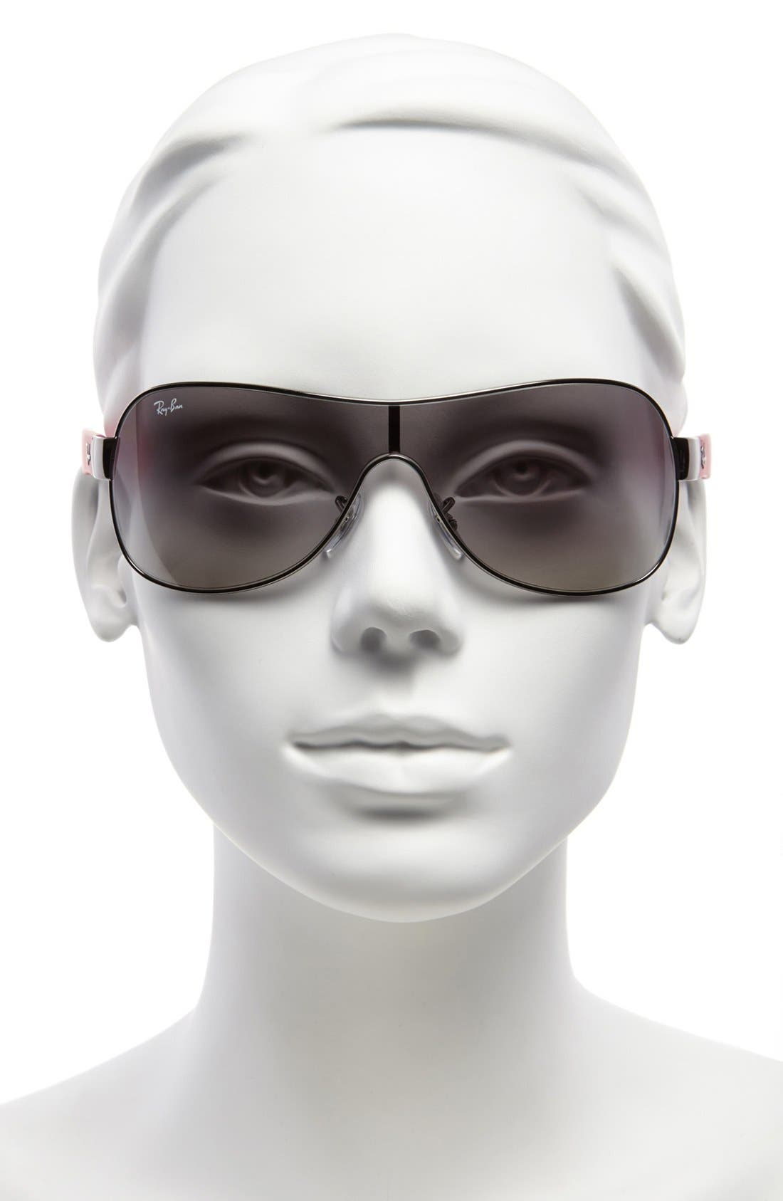 Alternate Image 2  - Ray-Ban 'Youngster' 32mm Metal Shield Sunglasses